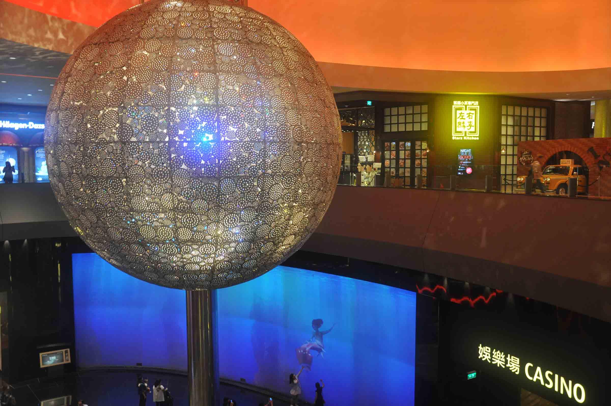 City of Dreams Macau big dicso ball