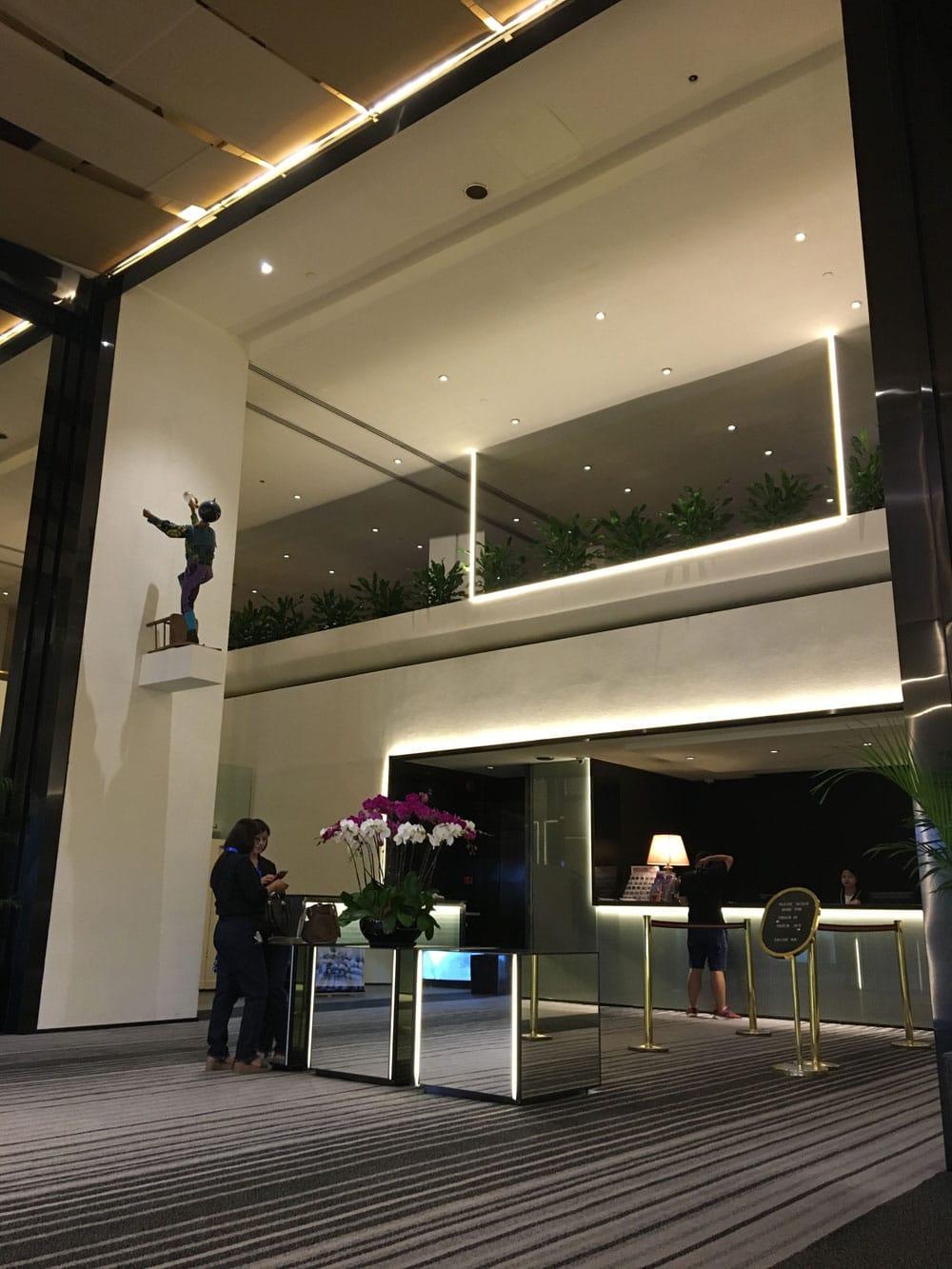 Regency Art Hotel lobby and front desk
