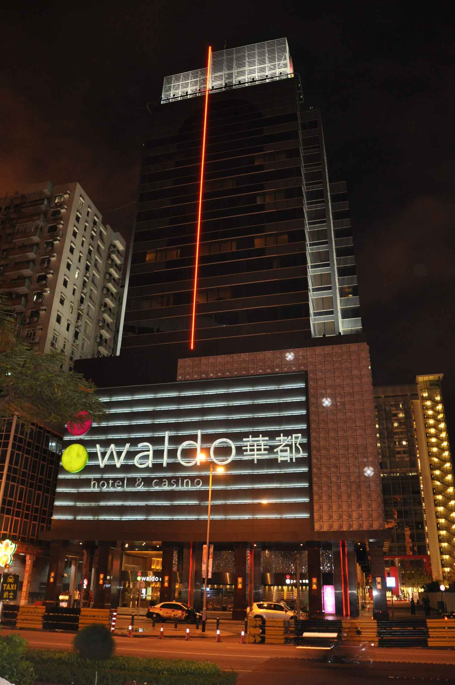 Waldo Hotel Macau at night