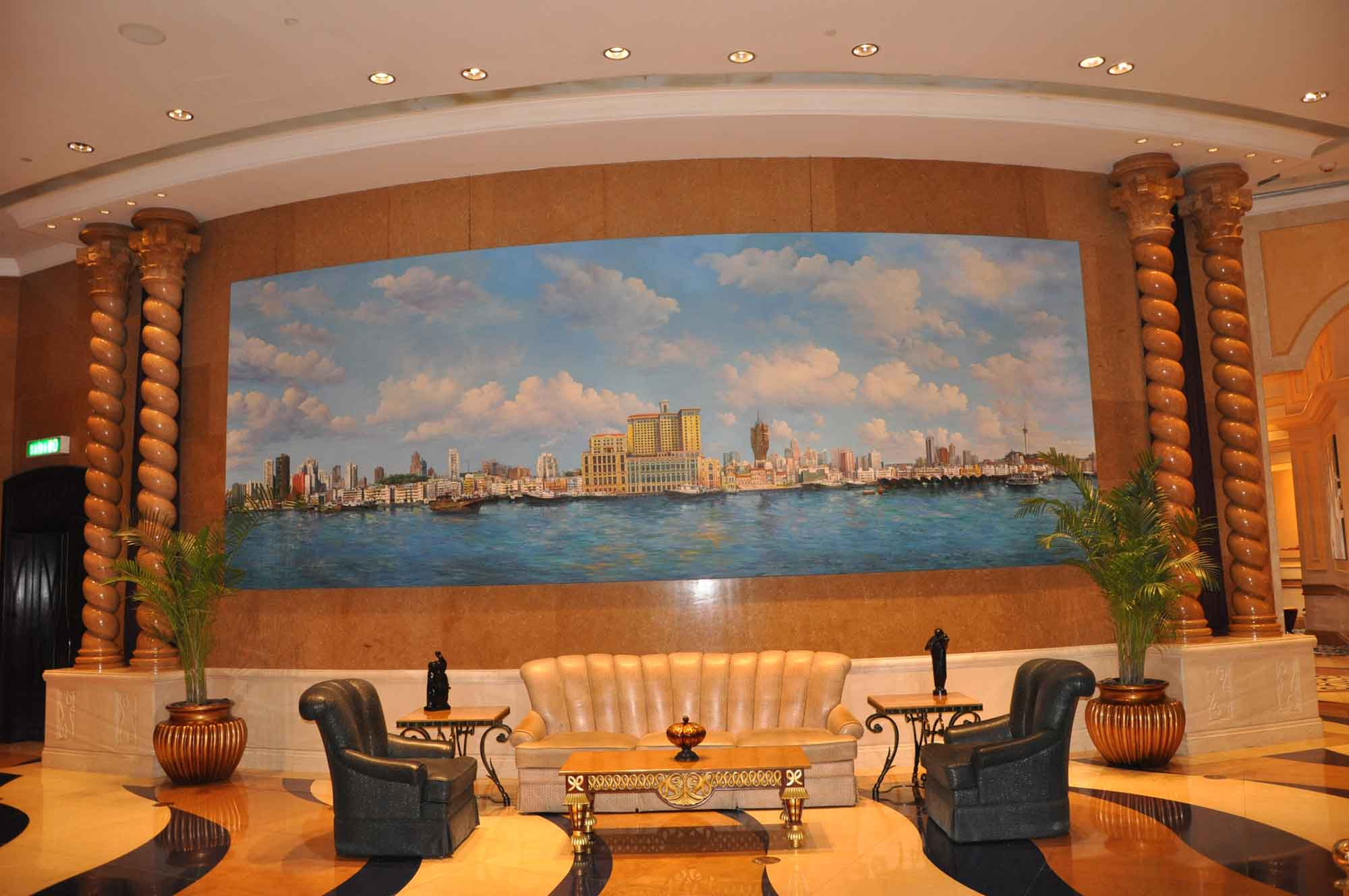 Inner Harbour Painting at Sofitel Macau