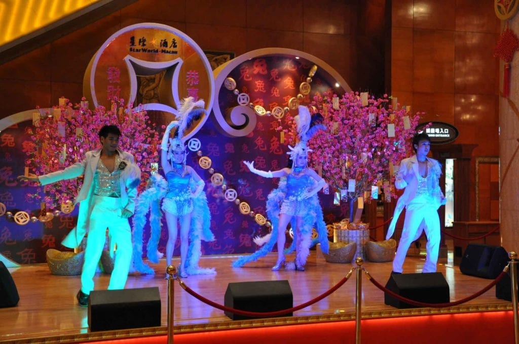 Starworld Macau lobby entertaiment