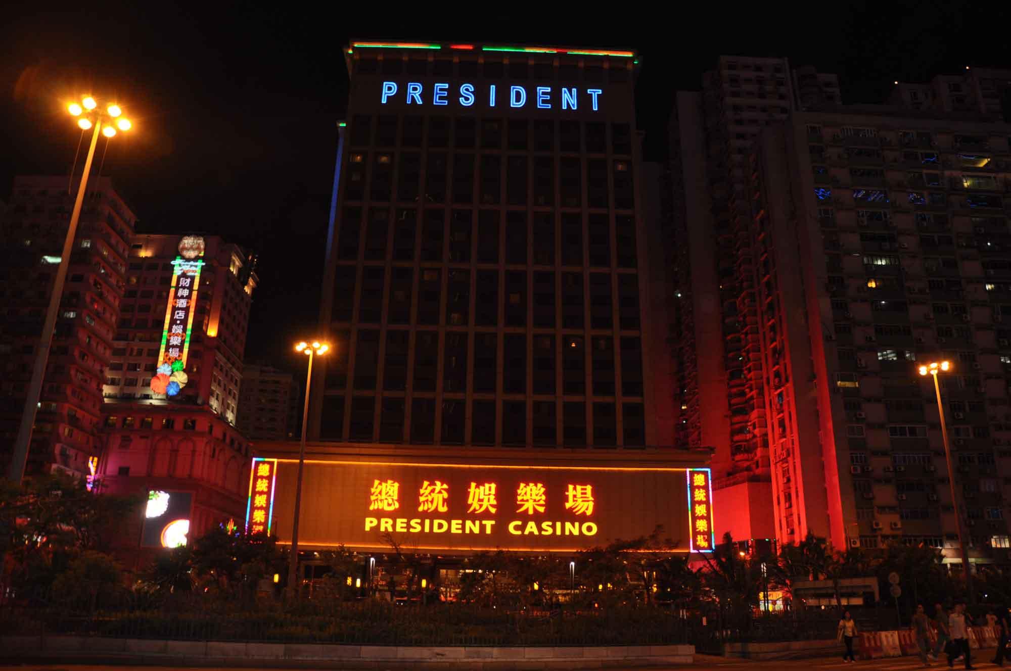 President Casino Macau at night
