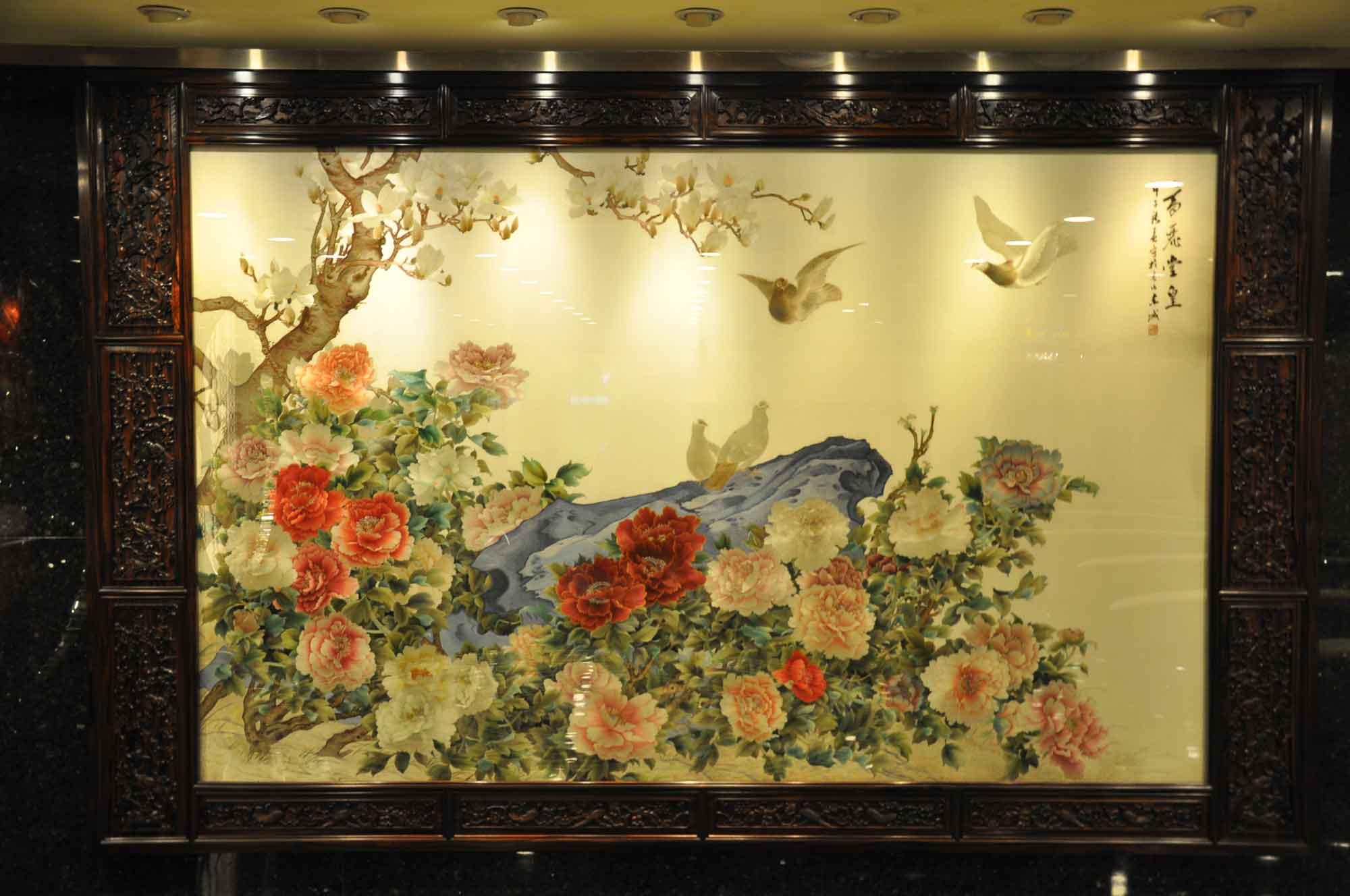Hotel Lisboa lobby art