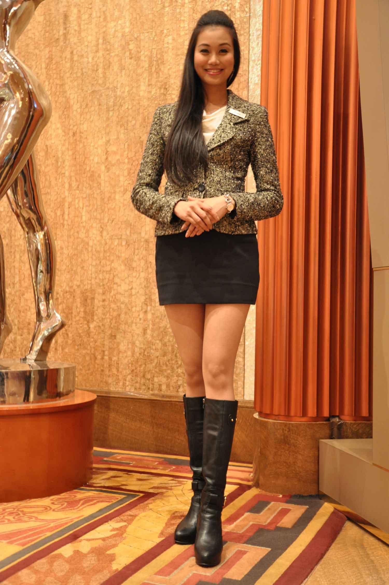 Beautiful Starworld Macau lobby ambassador