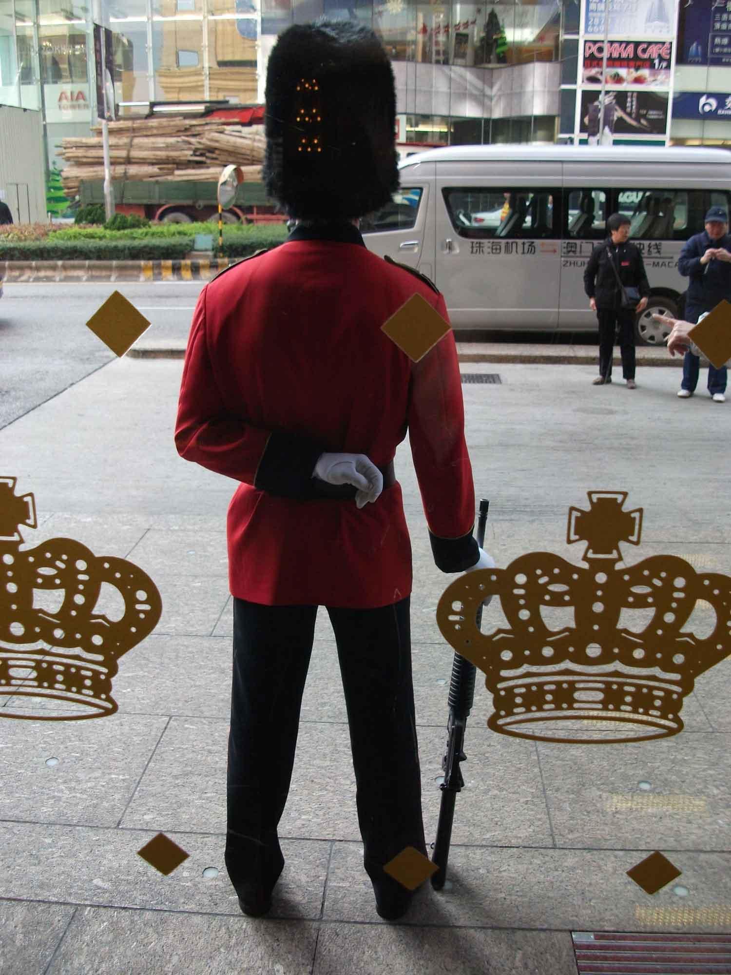 Grand Emperor Hotel Buckingham Palace guard back