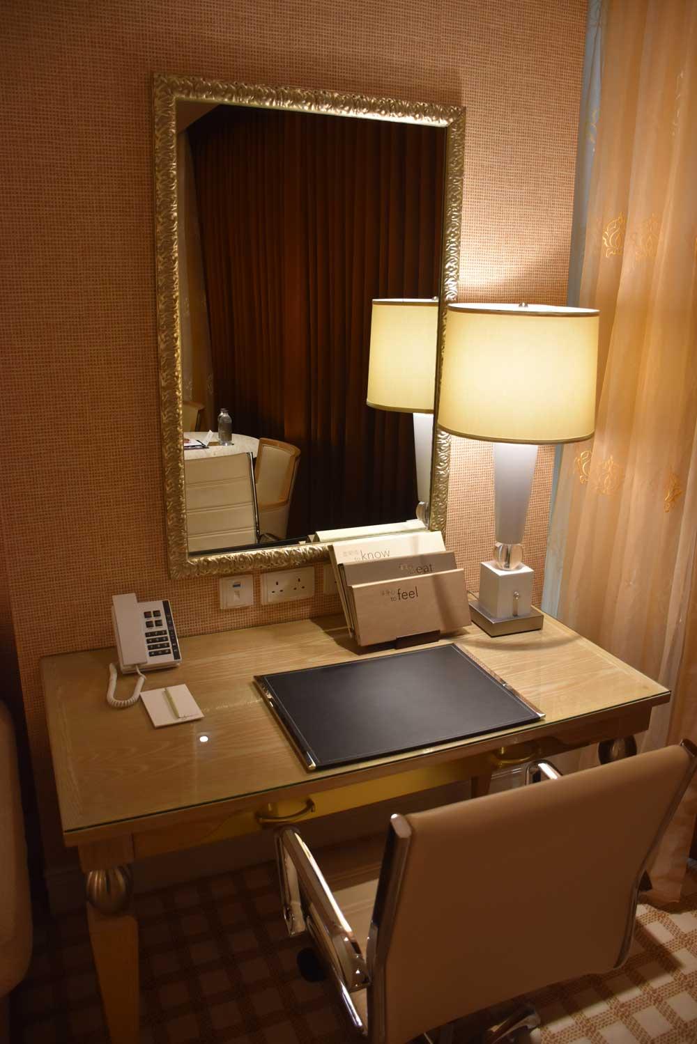 Wynn Macau Deluxe King desk