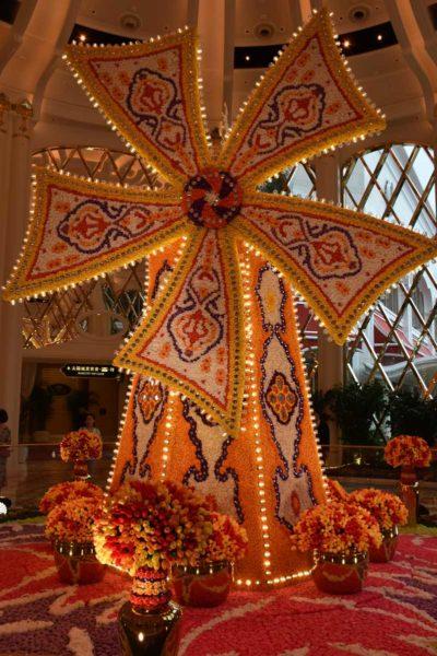 Wynn Palace flower windmill