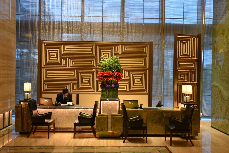 MGM Cotai Emerald Lobby desk