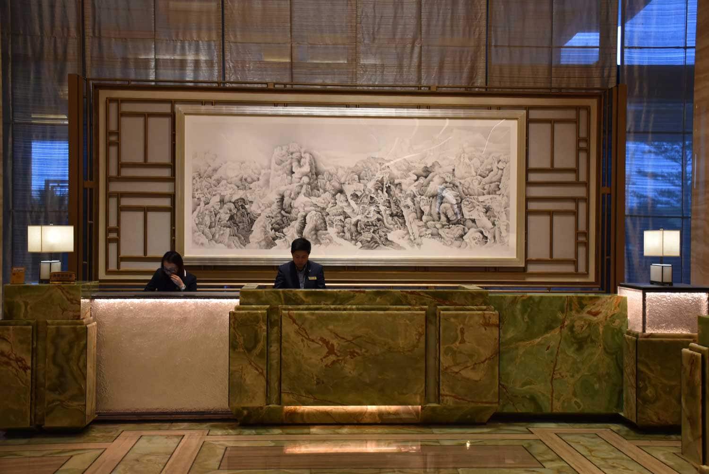 MGM Cotai Emerald Lobby front desk