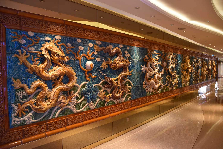 Hotel Lisboa dragon art