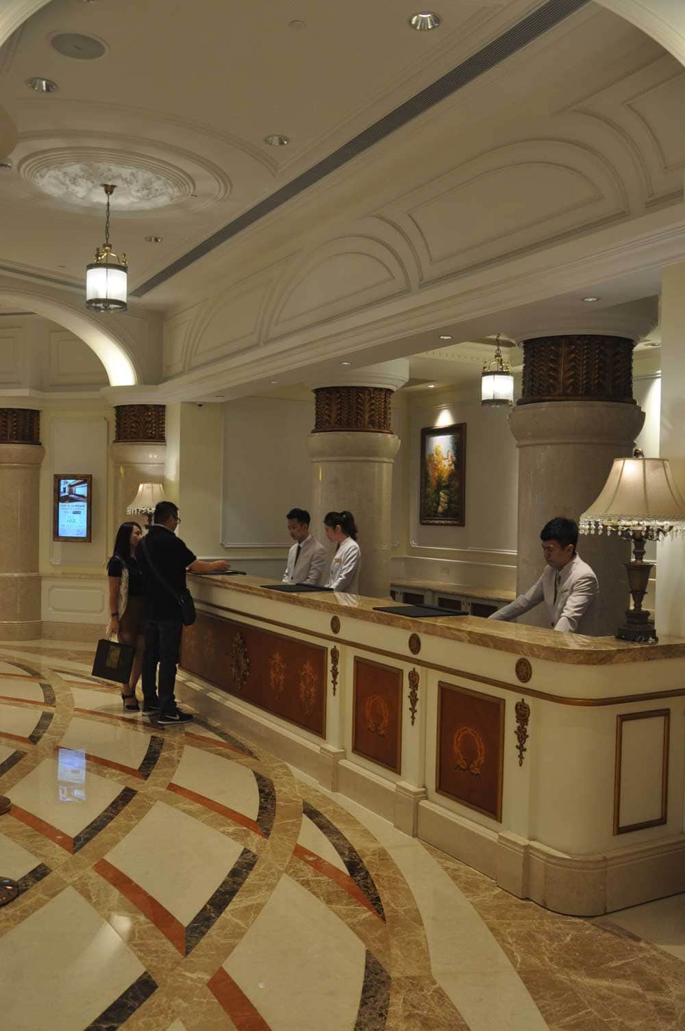 Legend Palace Hotel check in desk