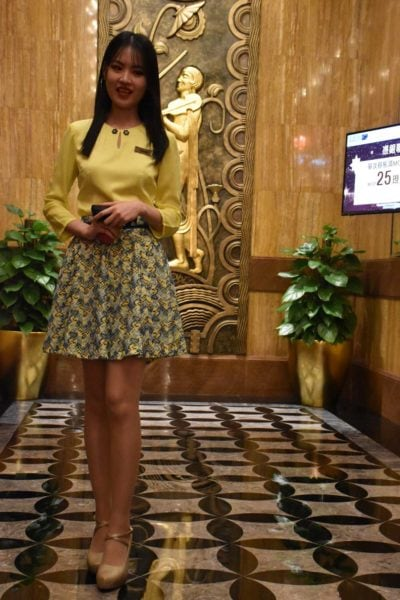 Super cute Starworld Macau lobby ambassador