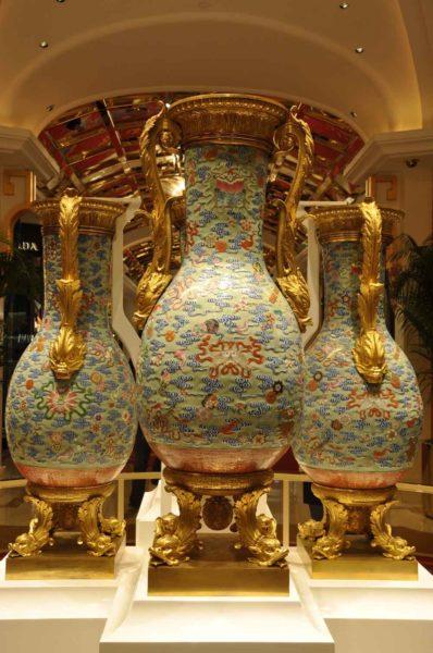 Wynn Palace Qing Dynasty vases