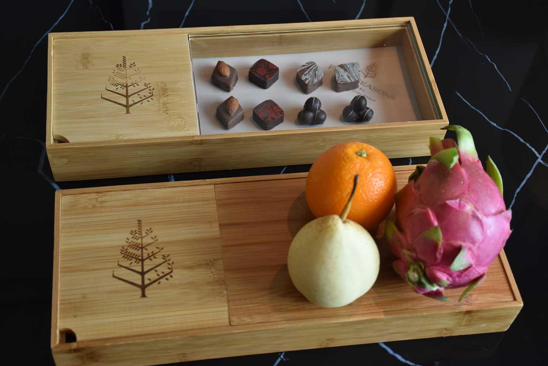Free fruit and chocolate at Four Seasons Macau