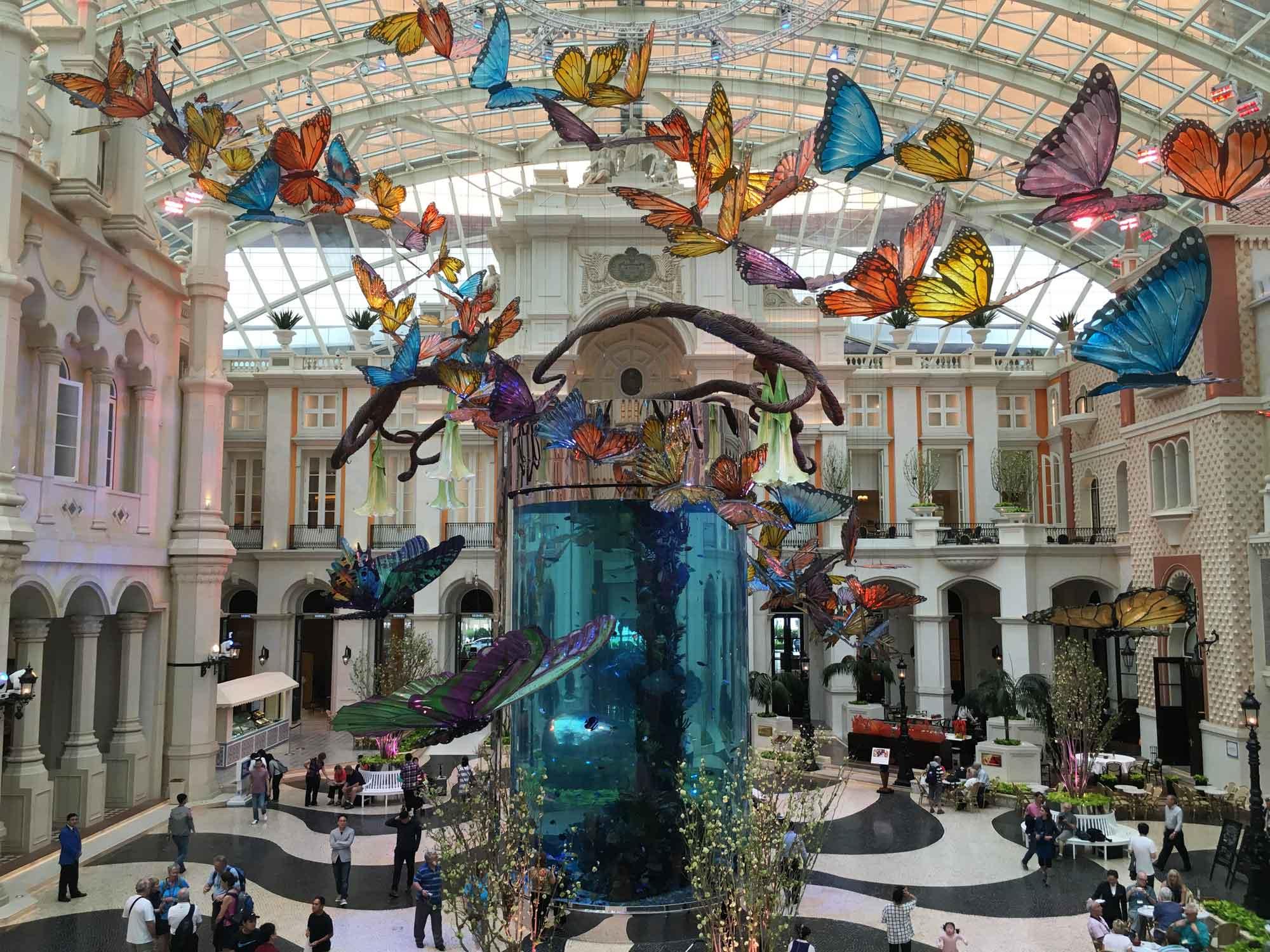 MGM Macau Grande Praca butterflies
