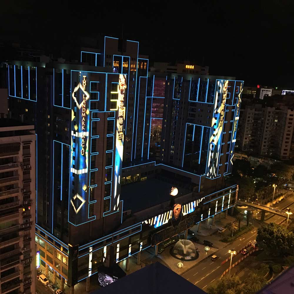 New Orient Landmark Macau hotel at night