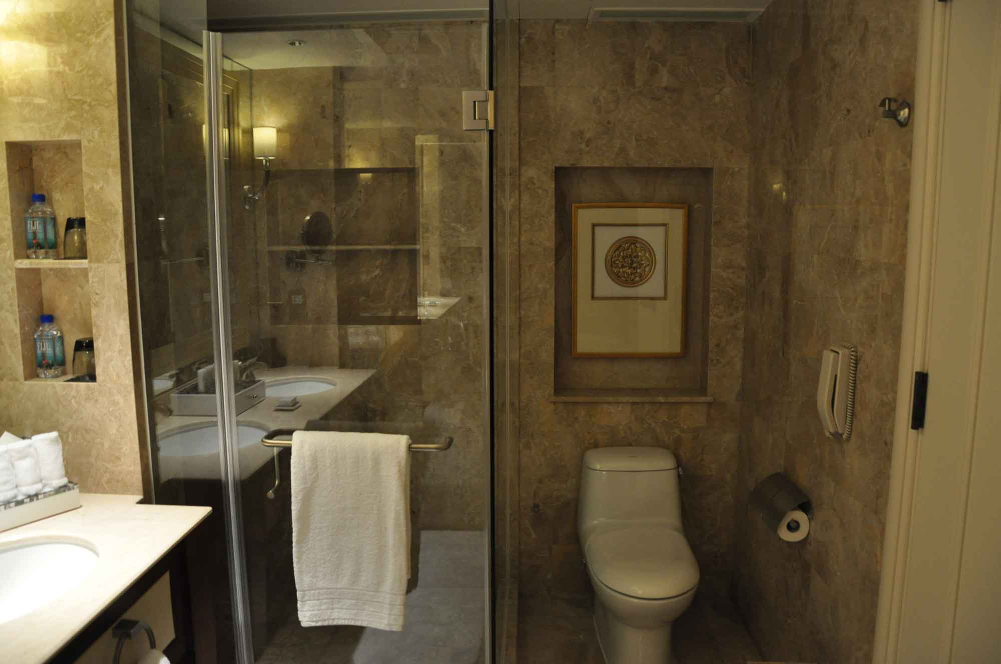 Conrad Macau King Deluxe room shower and toilet