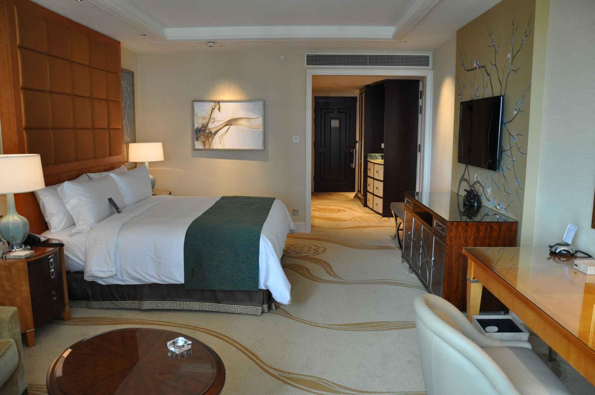 Conrad Macau King Deluxe room view toward door