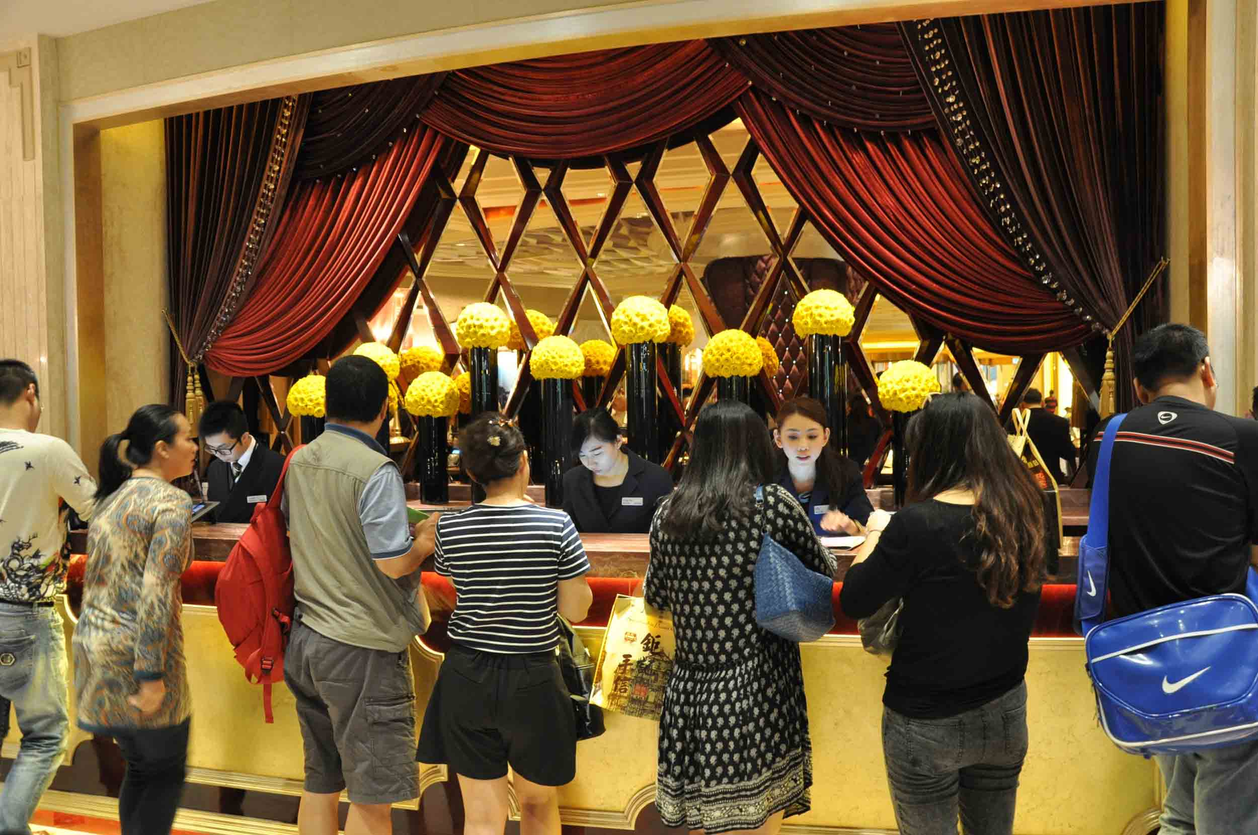 Studio City Macau Celebrity Tower front desk