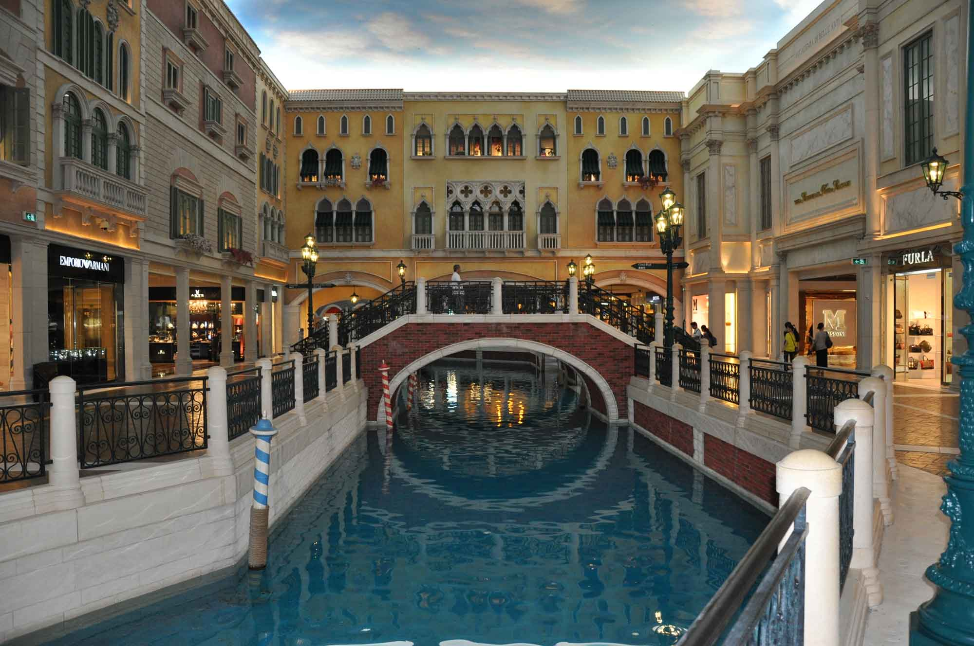 Venetian Macao canal and bridge