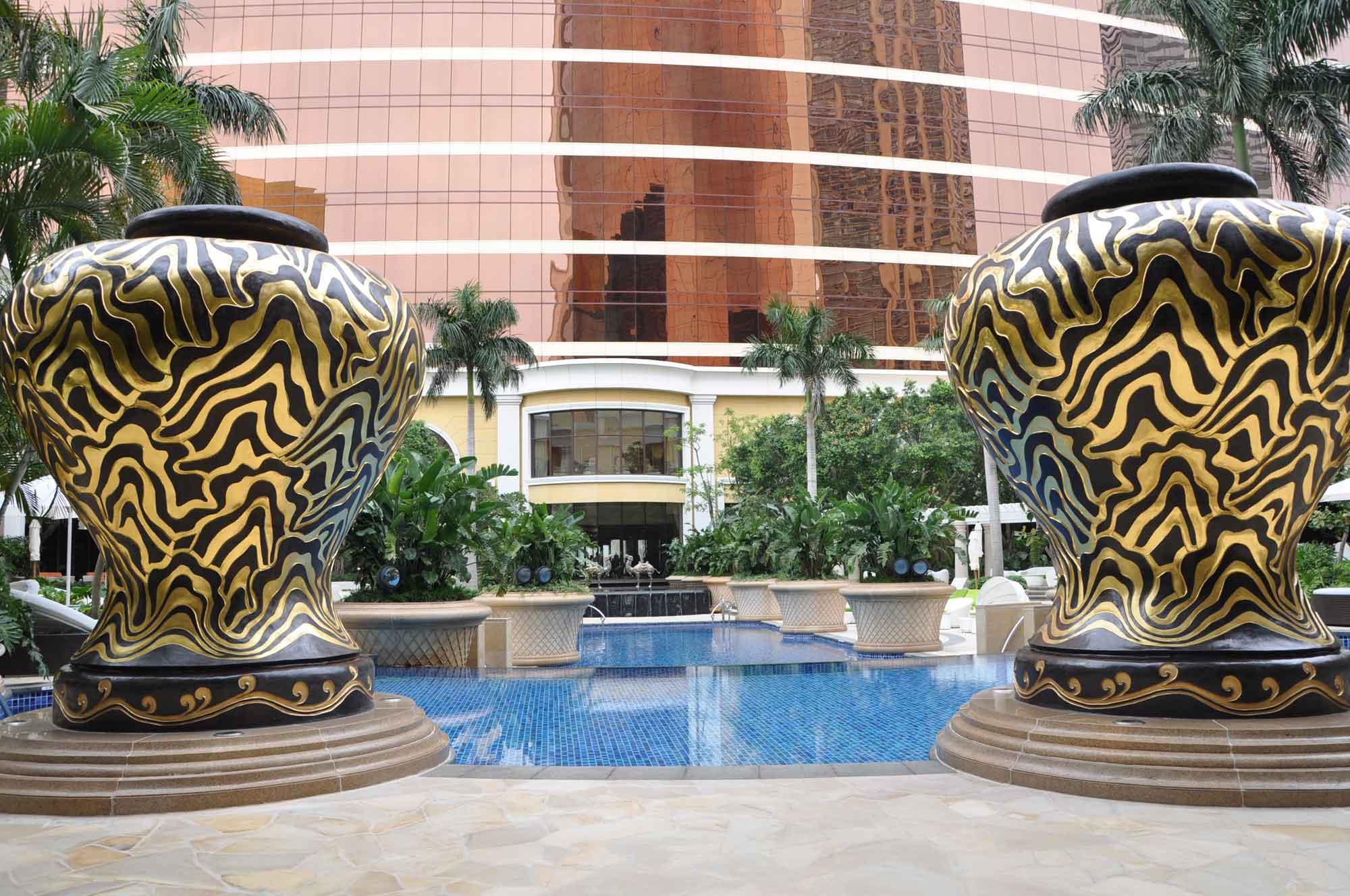 Wynn Macau giant pool vases