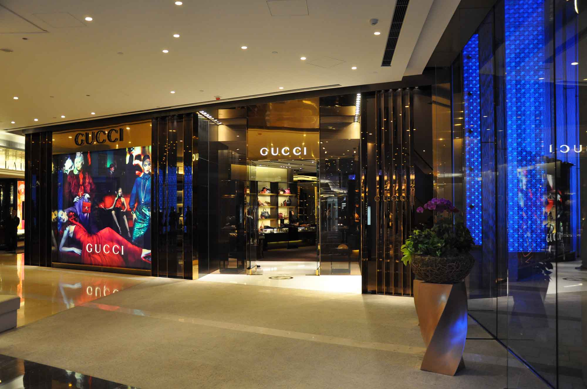 Gucci store, One Central Mall Macau