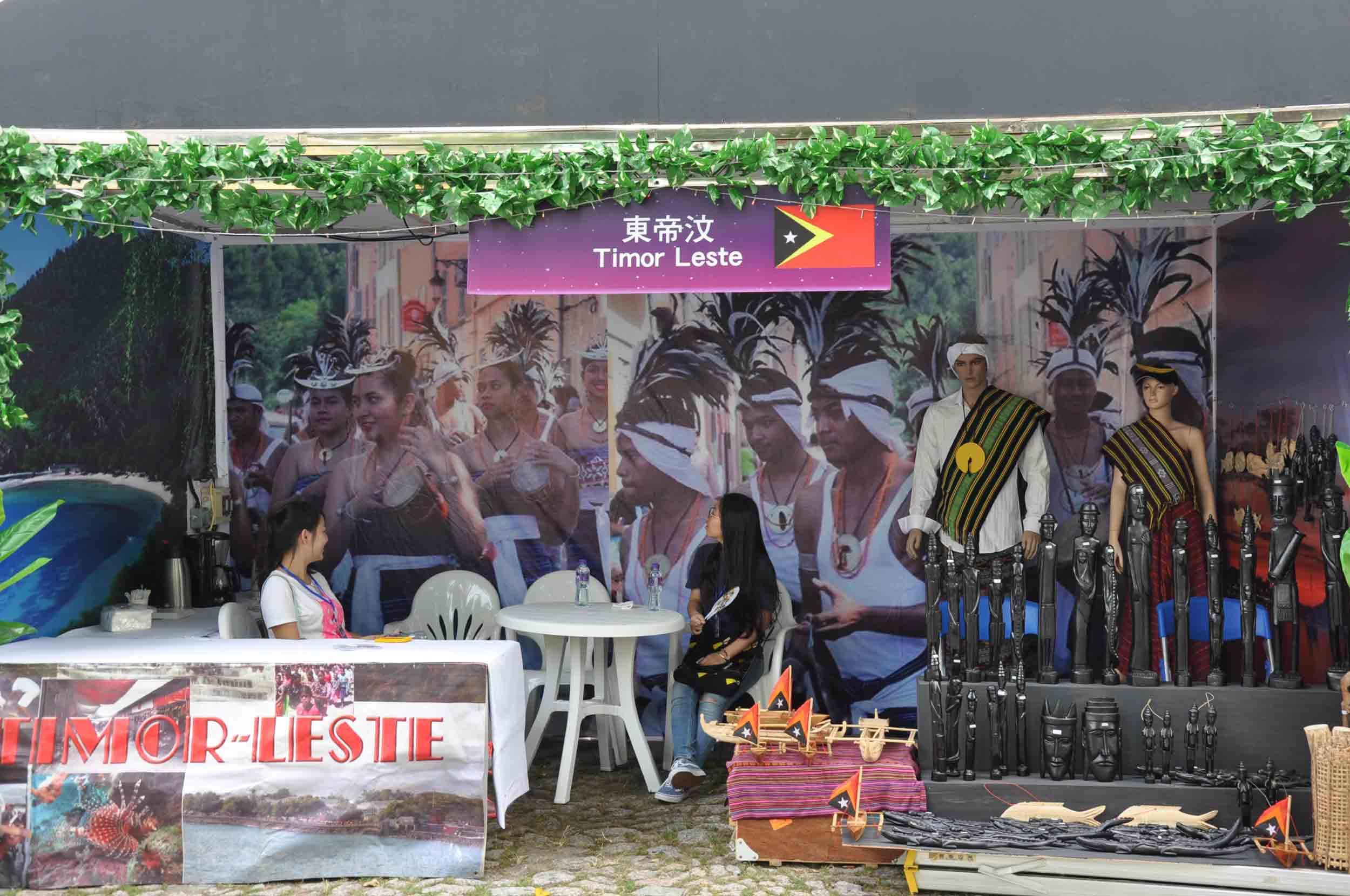 Lusofonia Festival Timor Leste Booth