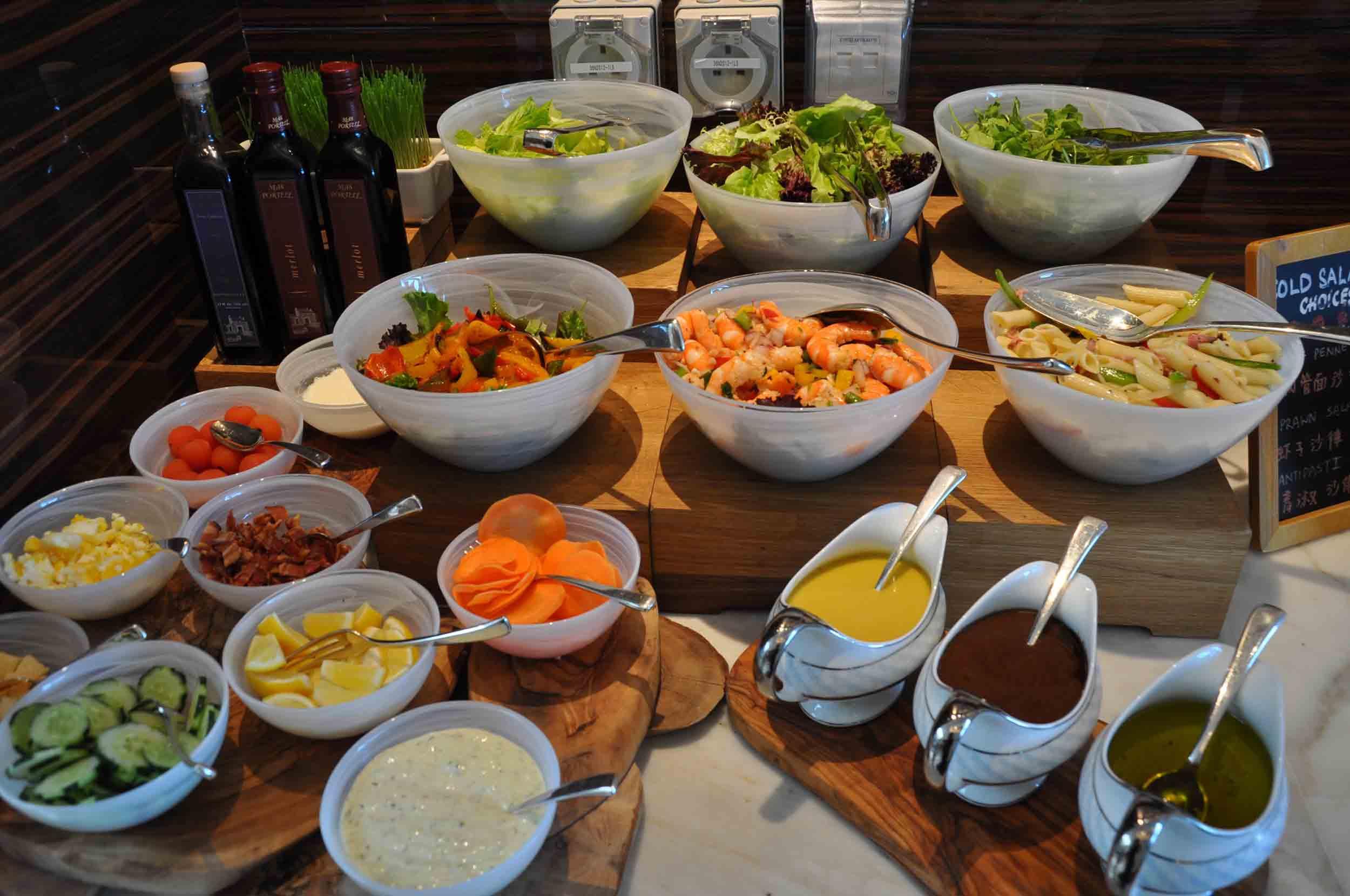 Ritz-Carlton Macau Club Lounge salad buffet