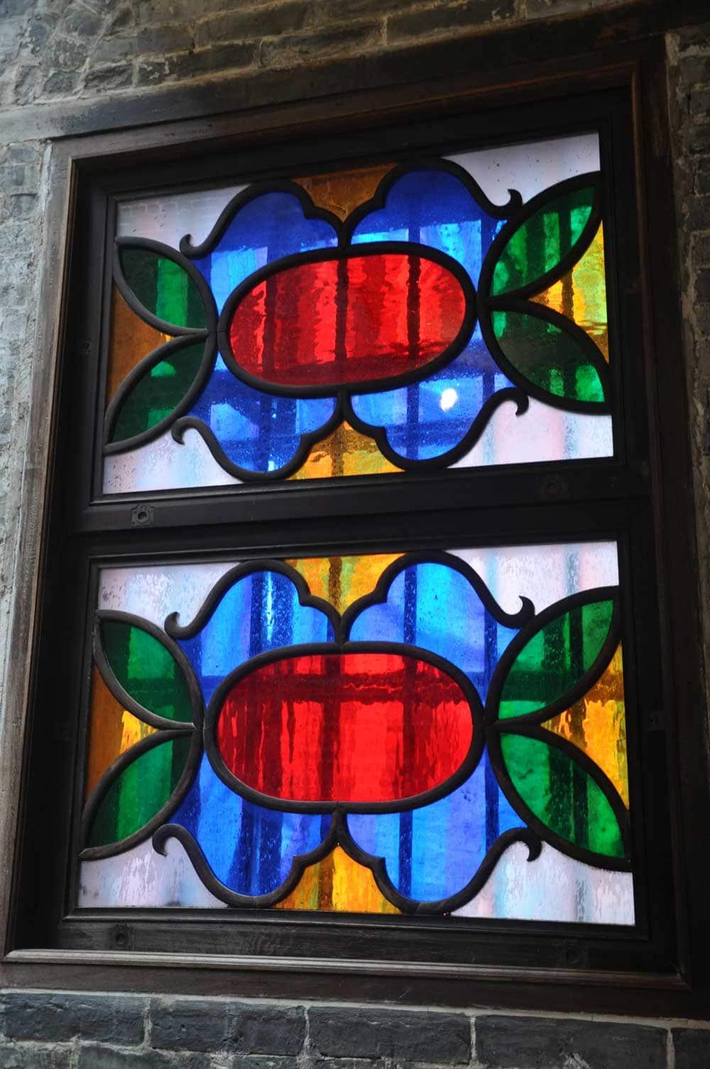 Lou Kau Mansion Macau stained glass window