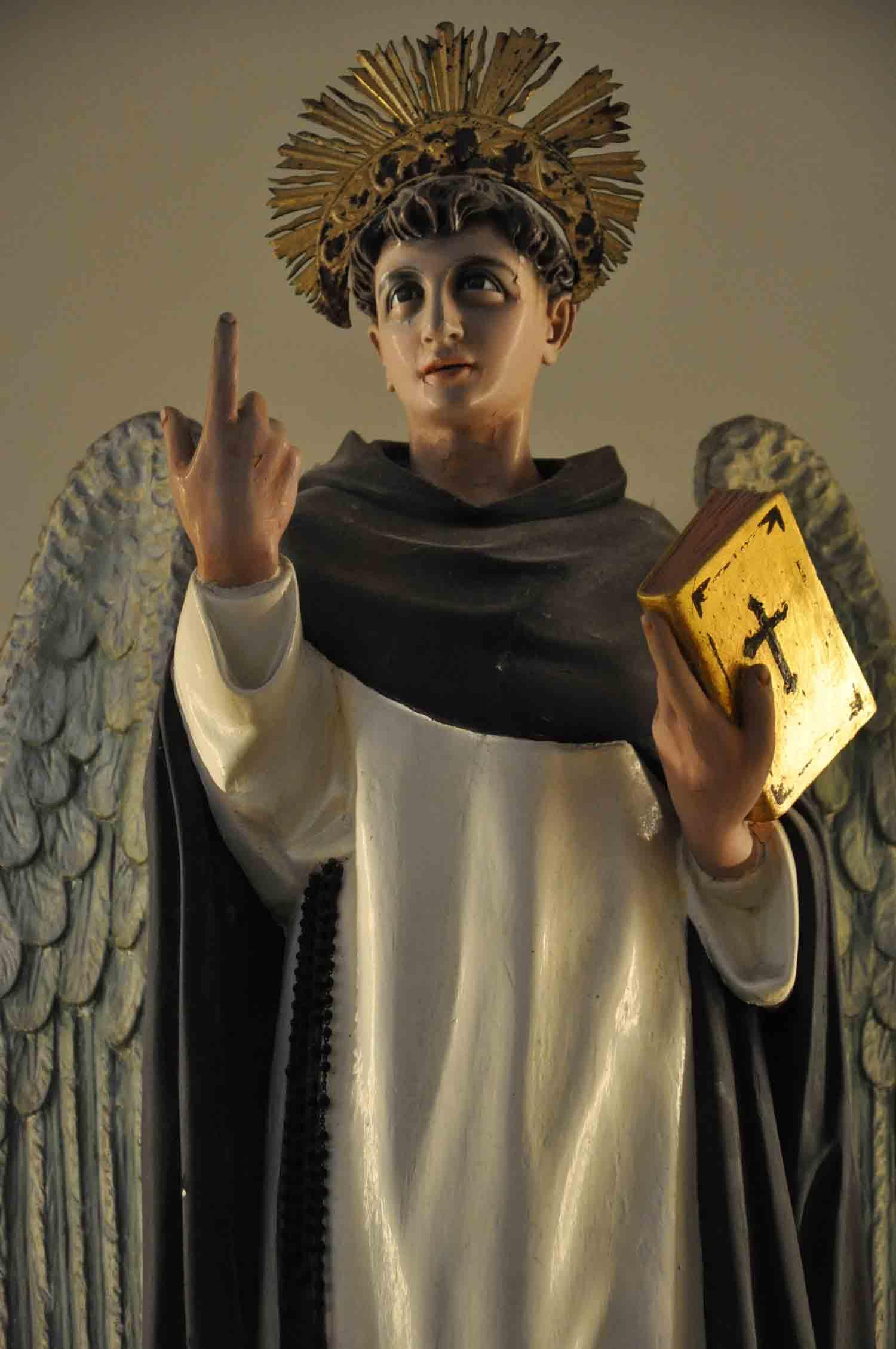 St. Dominics Church Macau angel with Bible