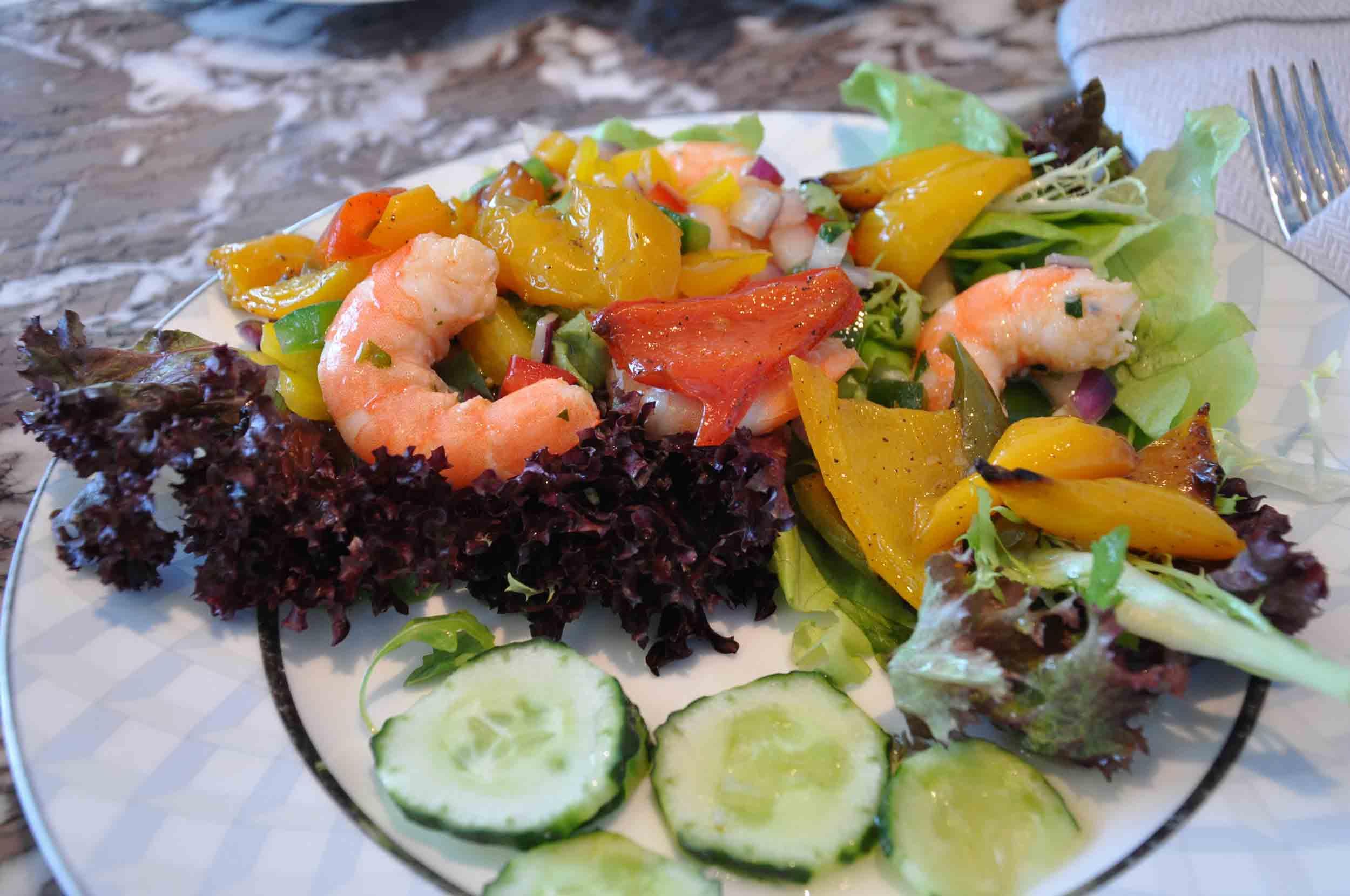 Ritz-Carlton Macau Club Lounge lunch salad