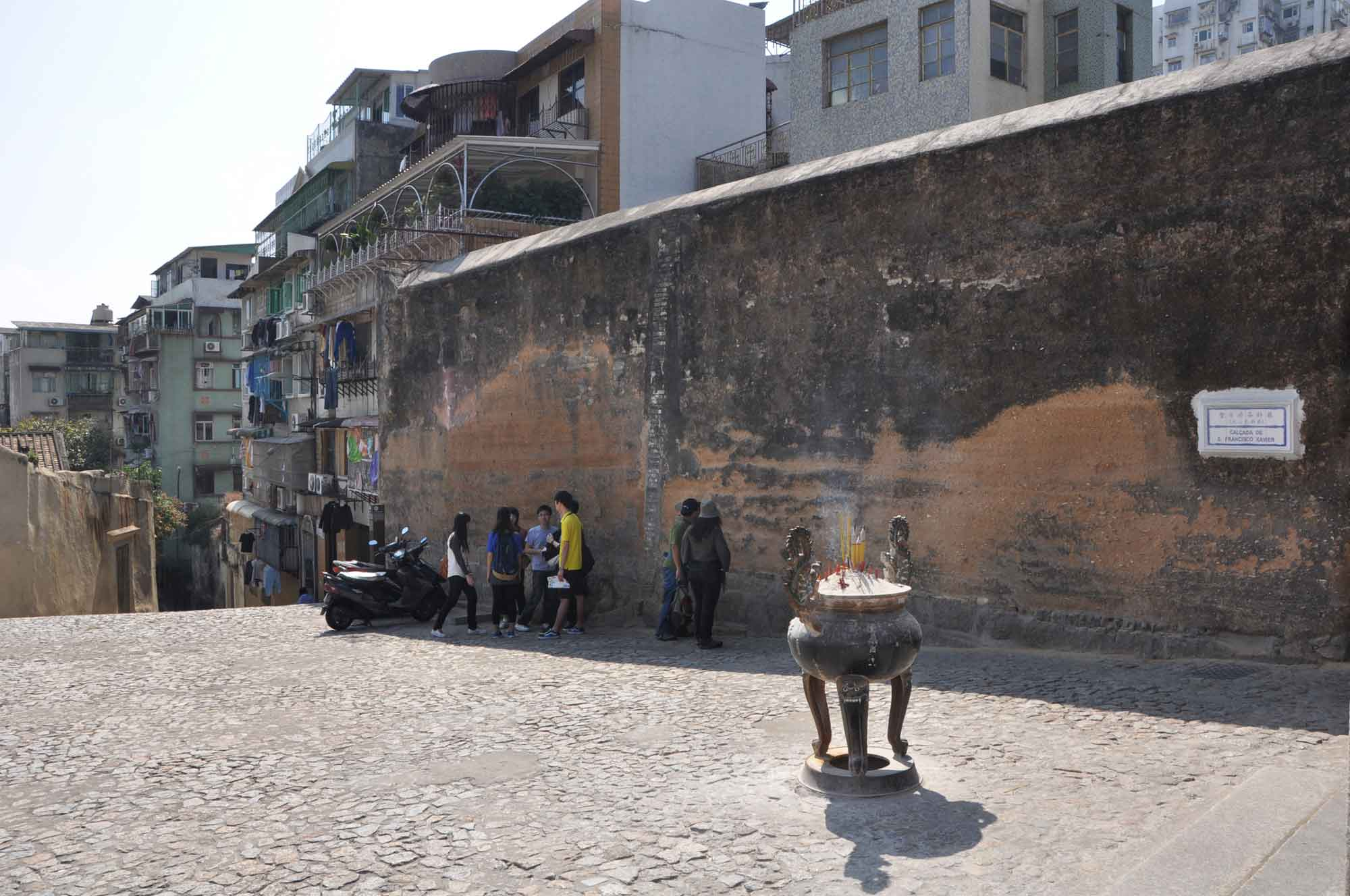 Macau World Heritage Site: Section of the Old City Walls