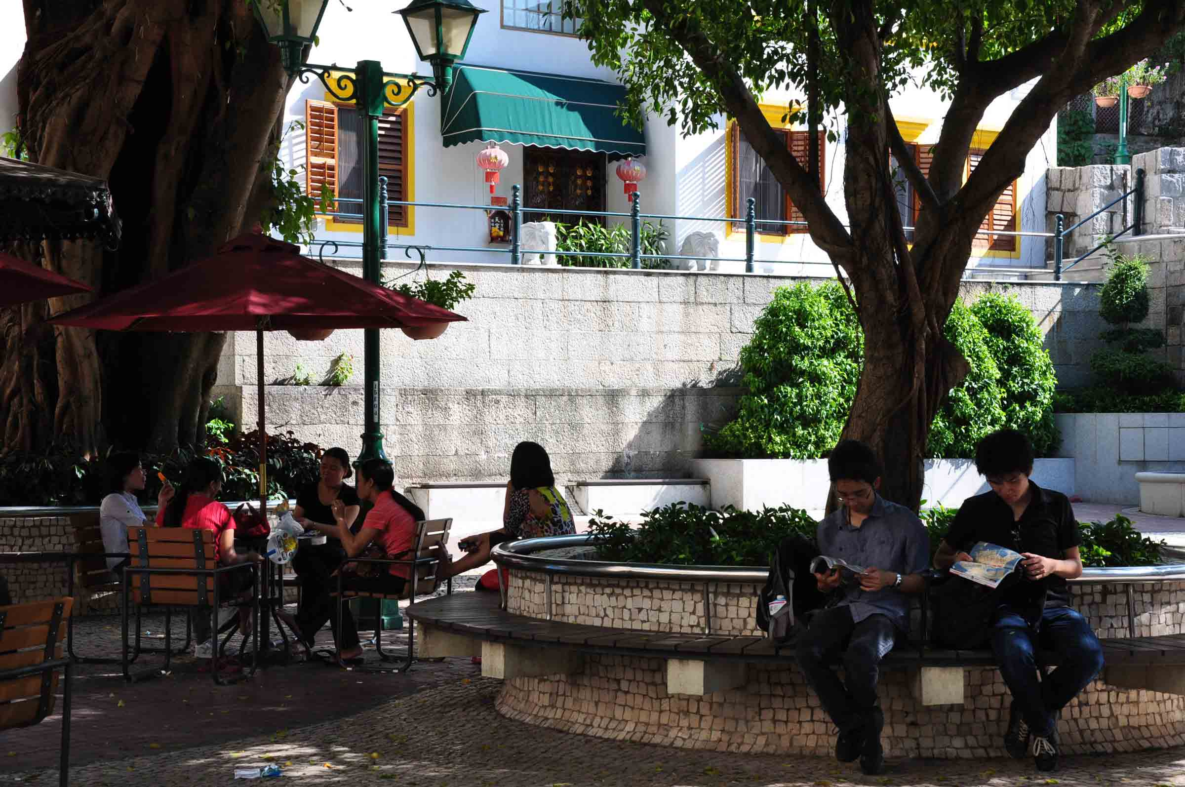 Macau world heritage site: Lilau square