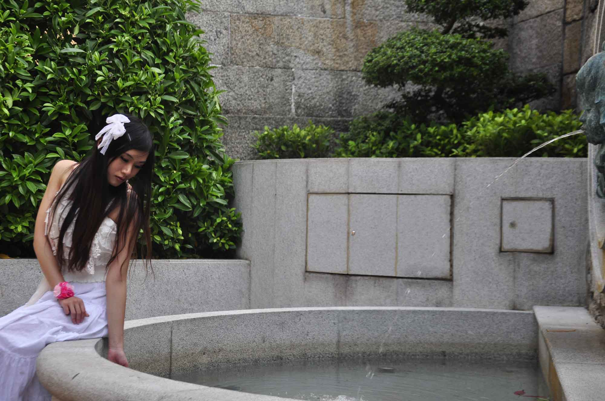 Macau world heritage site: Lilau square fountain