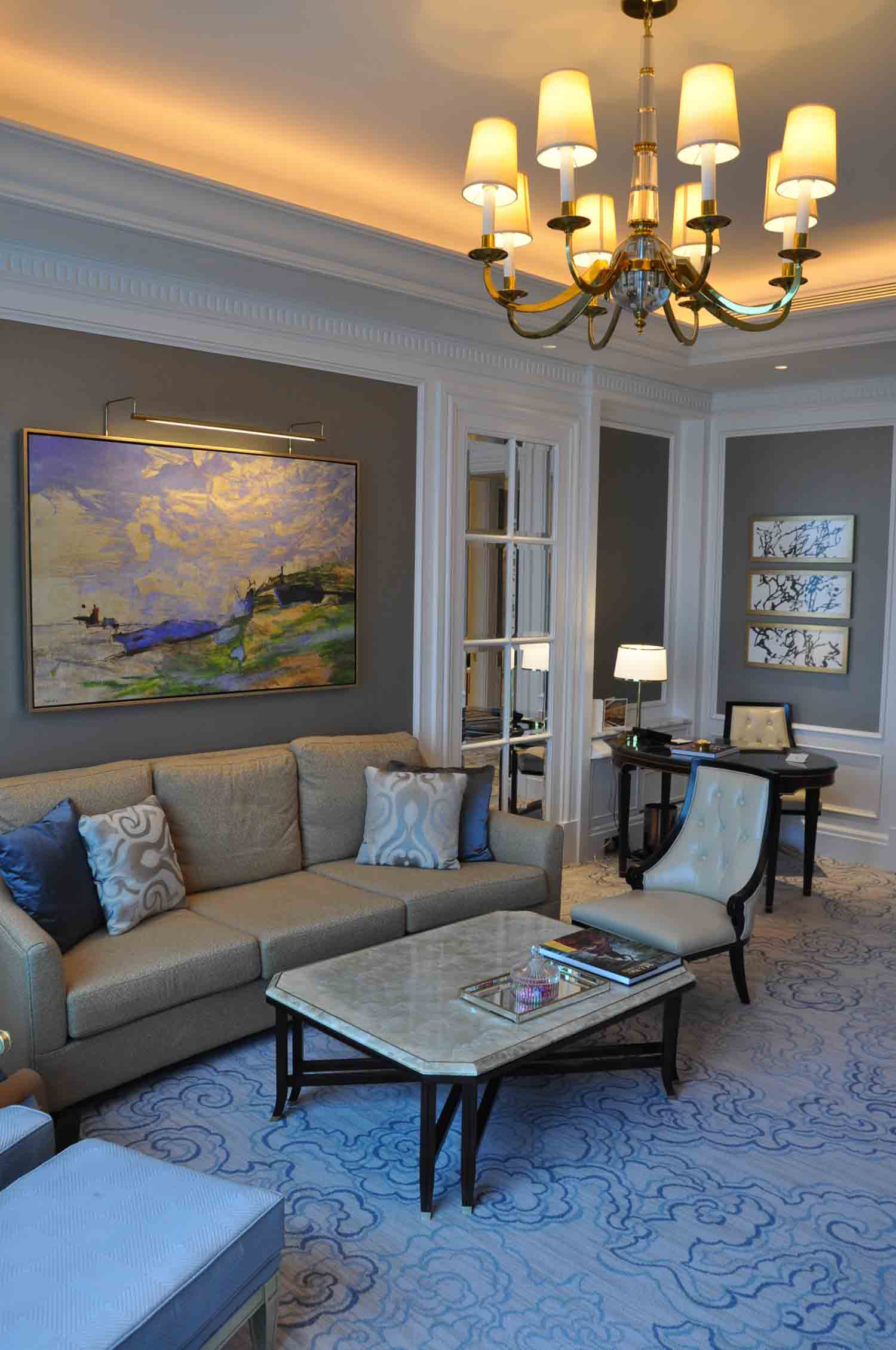 Ritz-Carlton Macau Premier Suite living room