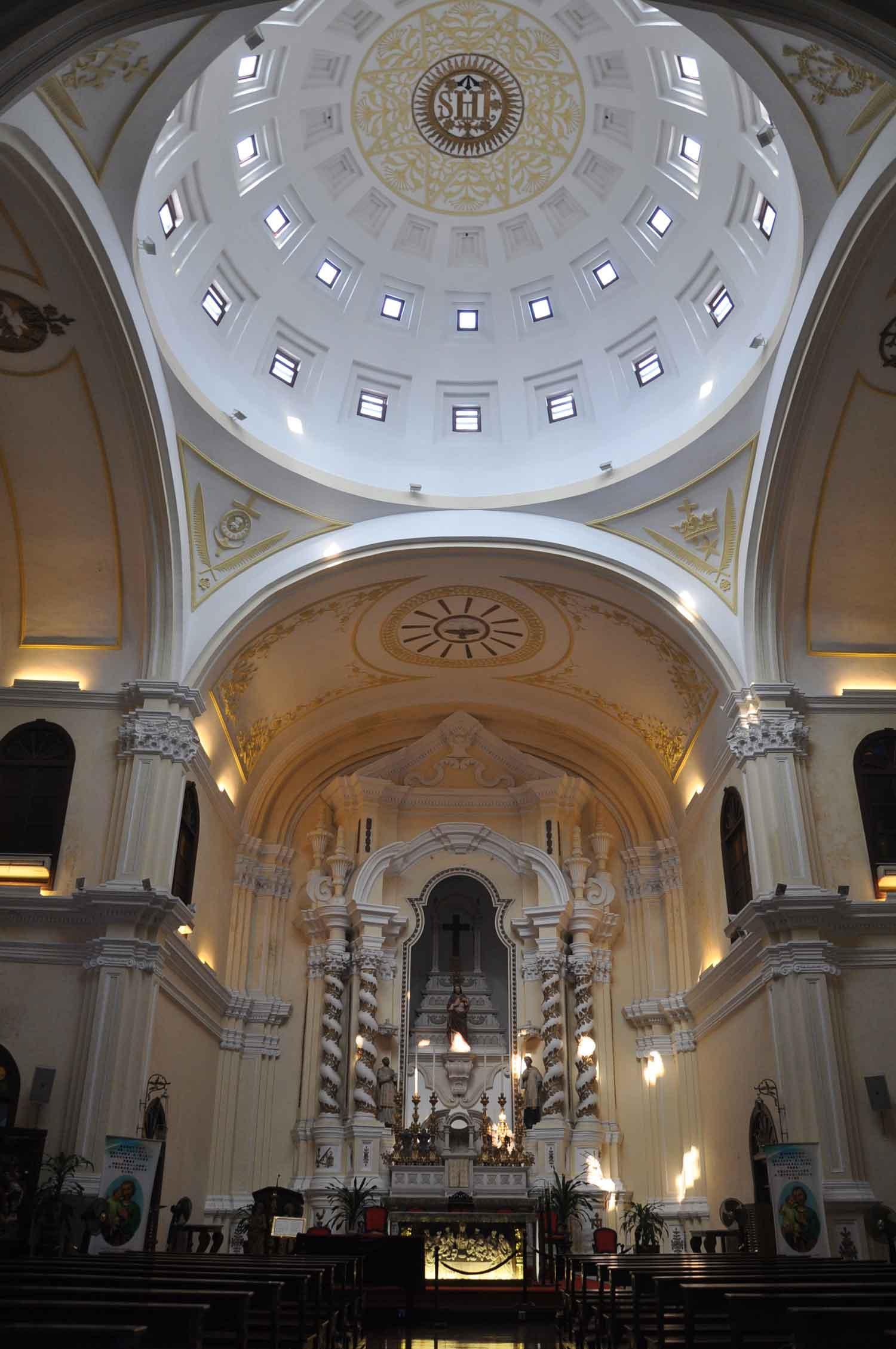 St Josephs Church Macau dome ceiling