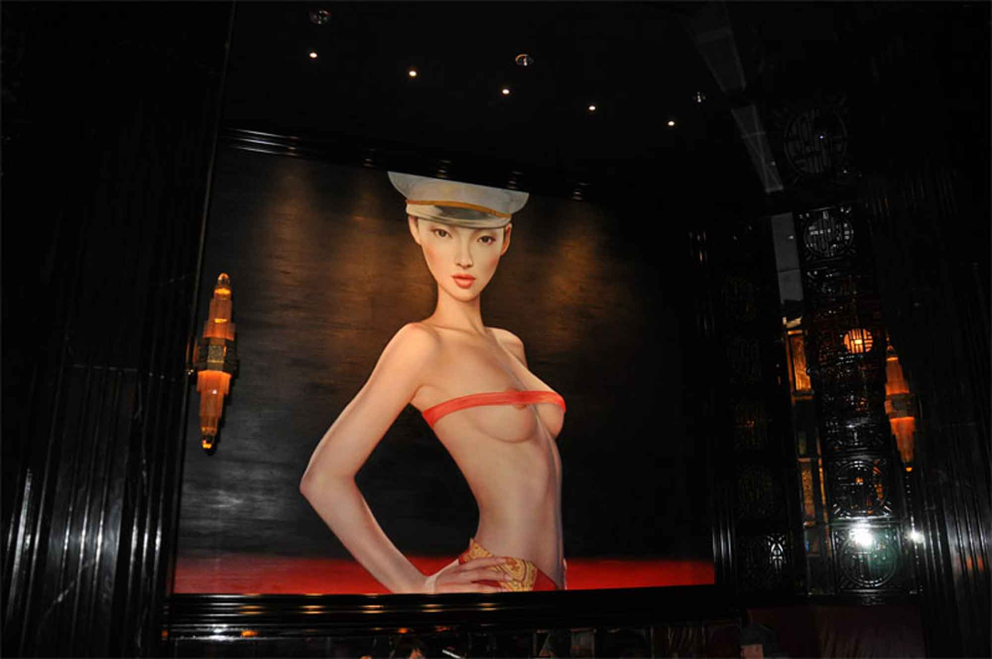 China Rouge Macau sultry painting