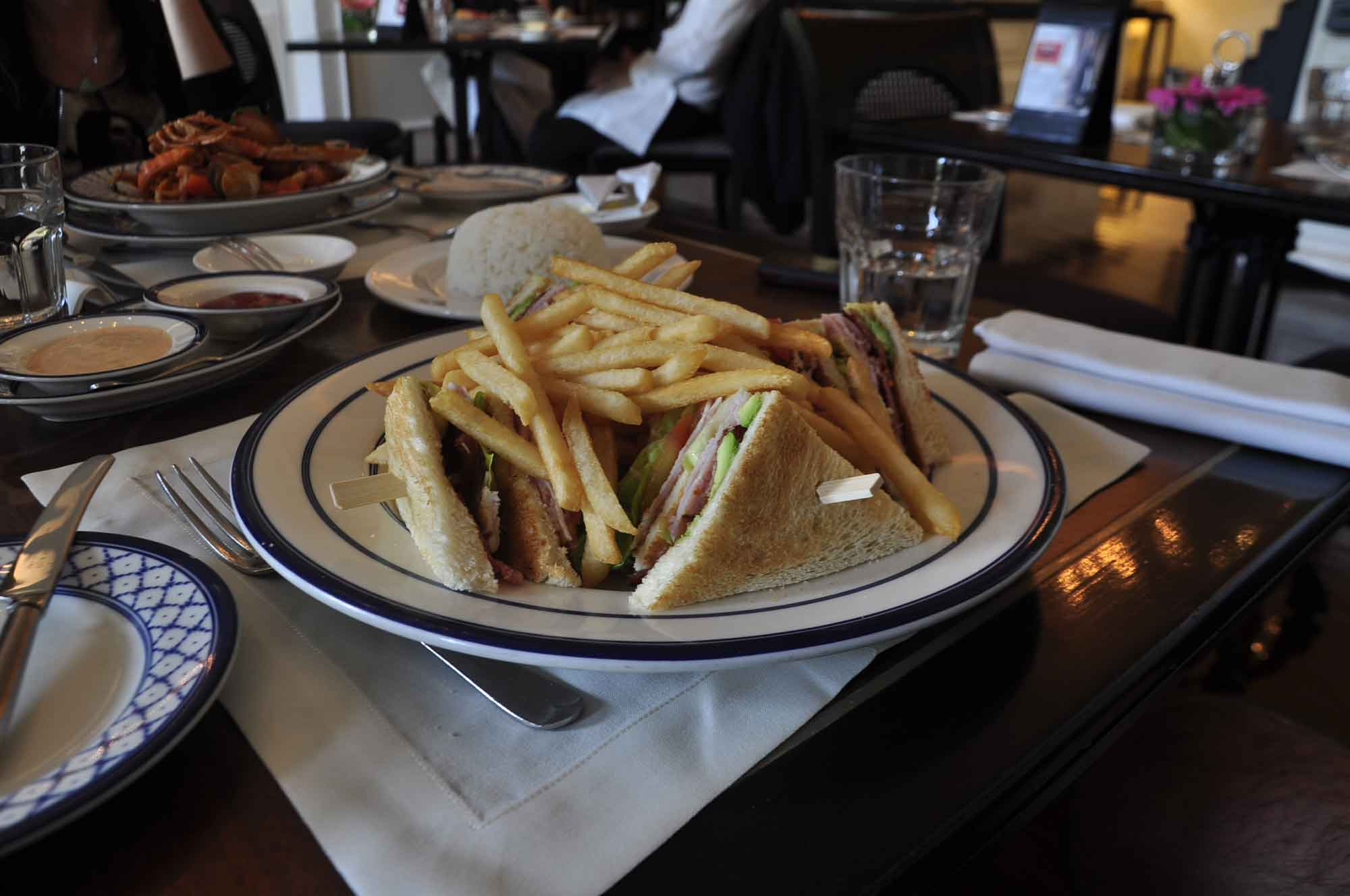 Cafe Bela Vista Macau club sandwich