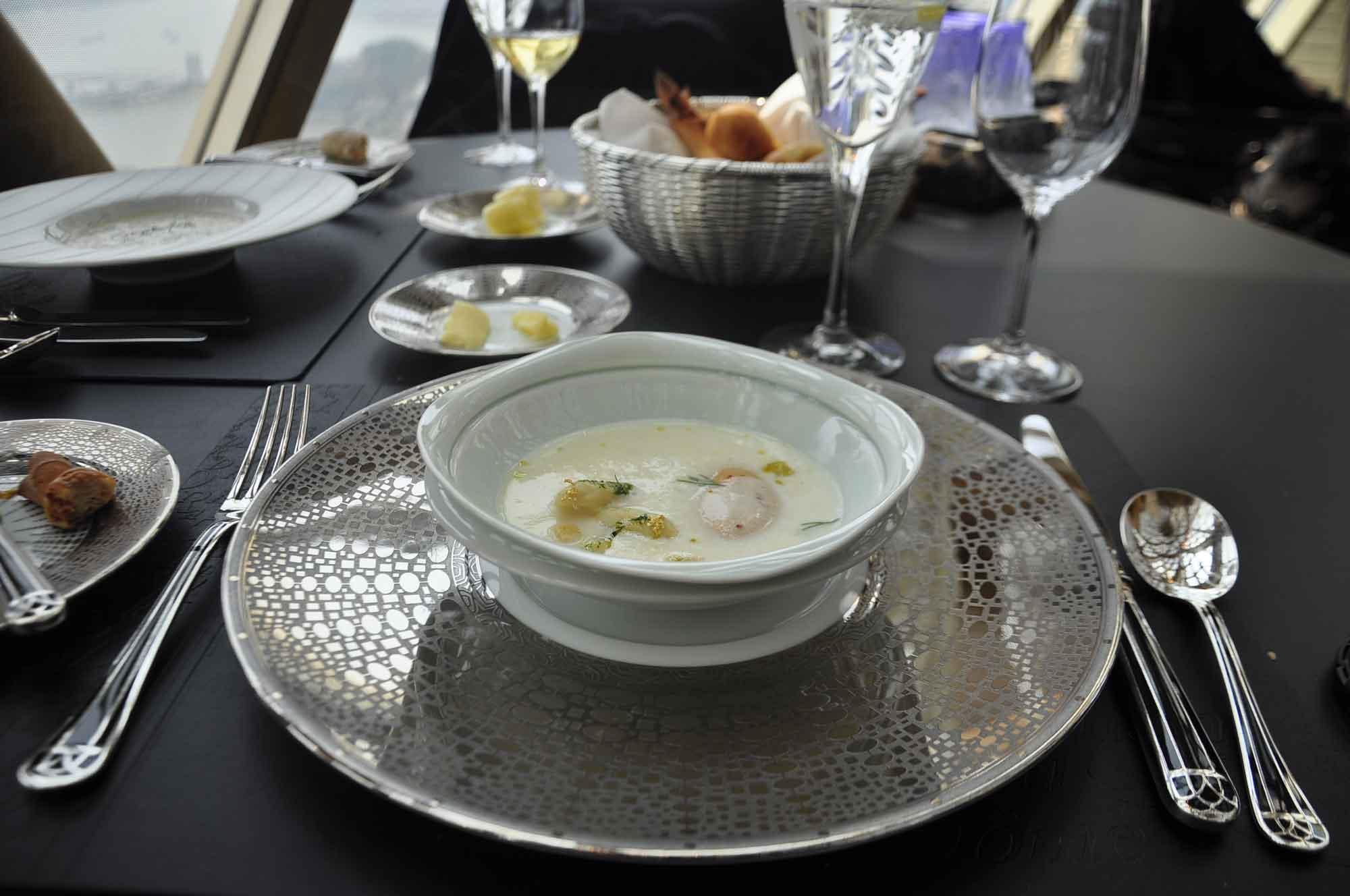 Robuchon Au Dome soup