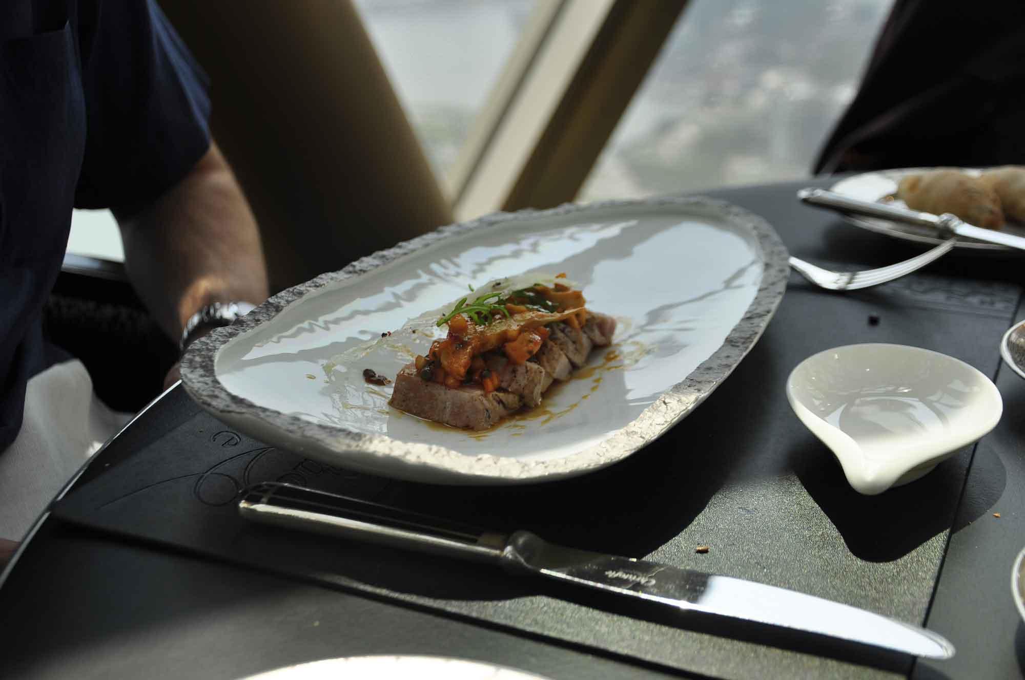 Robuchon Au Dome meat course