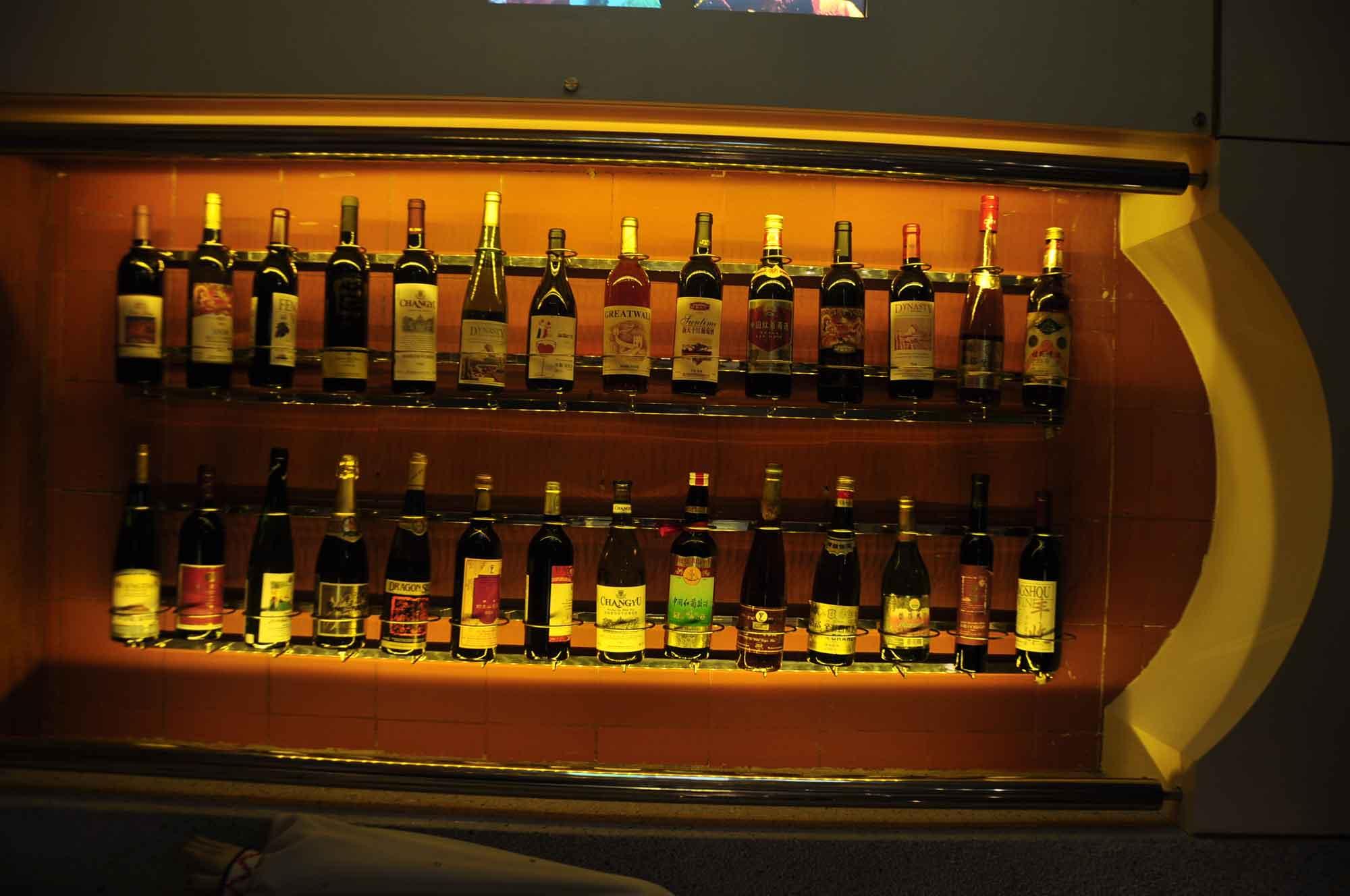 Macau Wine Musuem wine bottle display