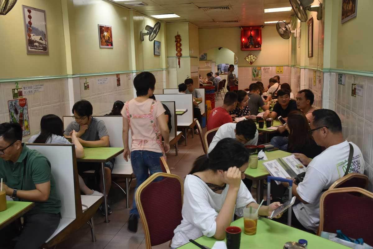 Cafe Vitoria Macau inside