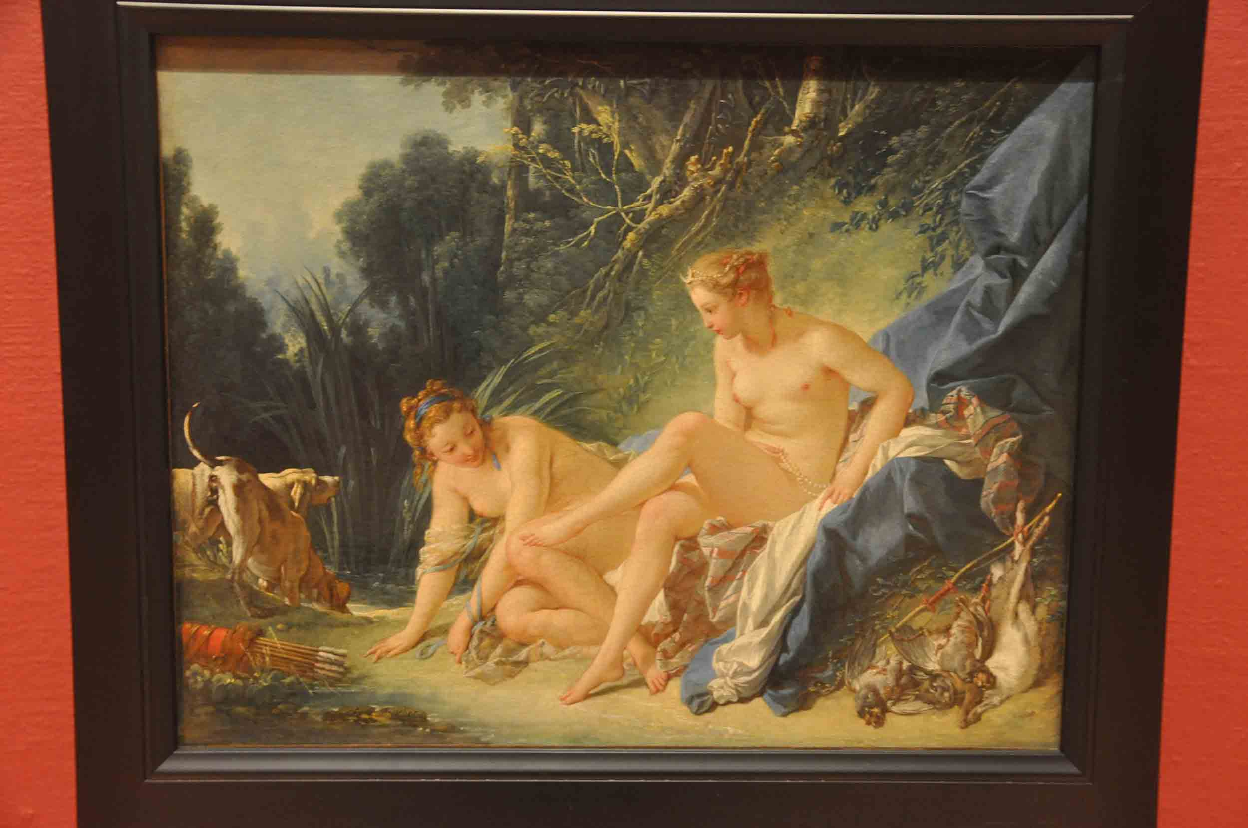 François Boucher - Diana Bathing, 1742