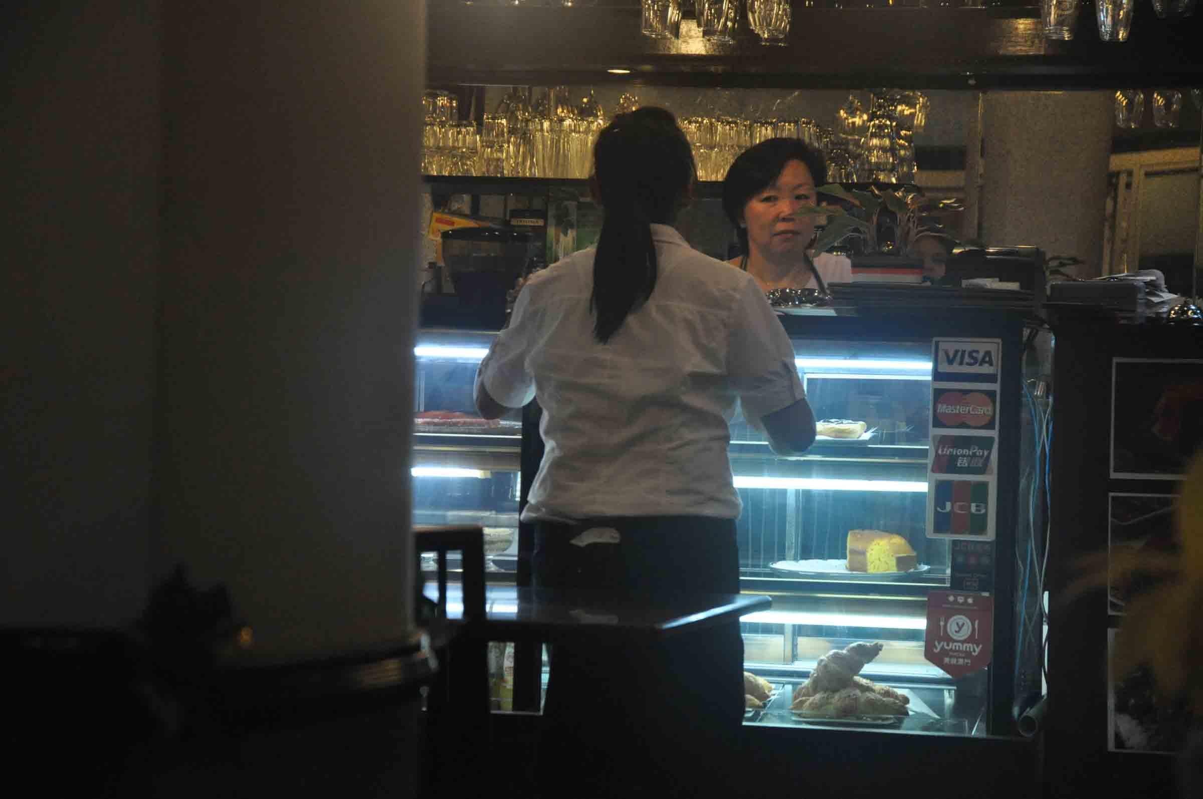 Ou Mun Cafe Macau pay counter