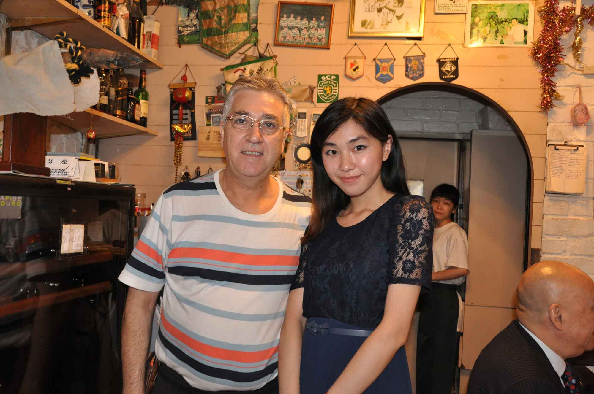 O Manuel Macau with pretty girl