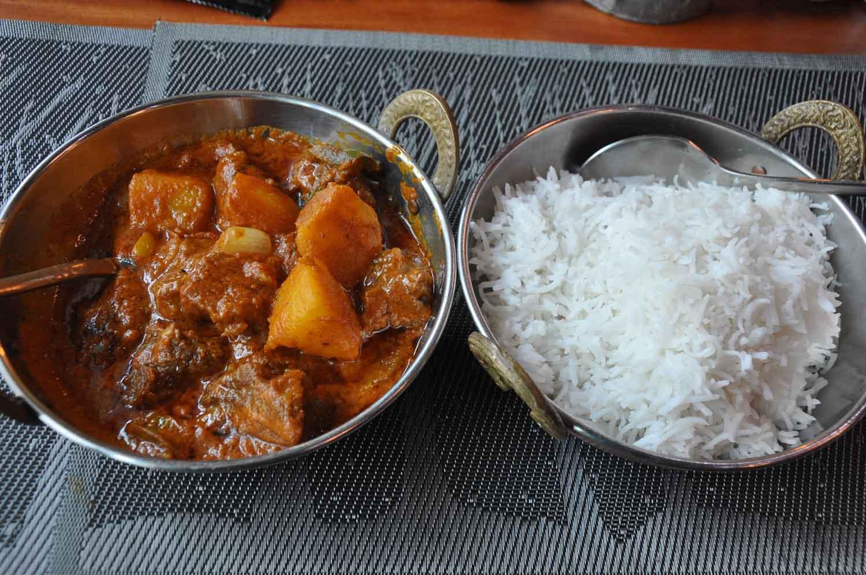 Indian Garden lamb curry