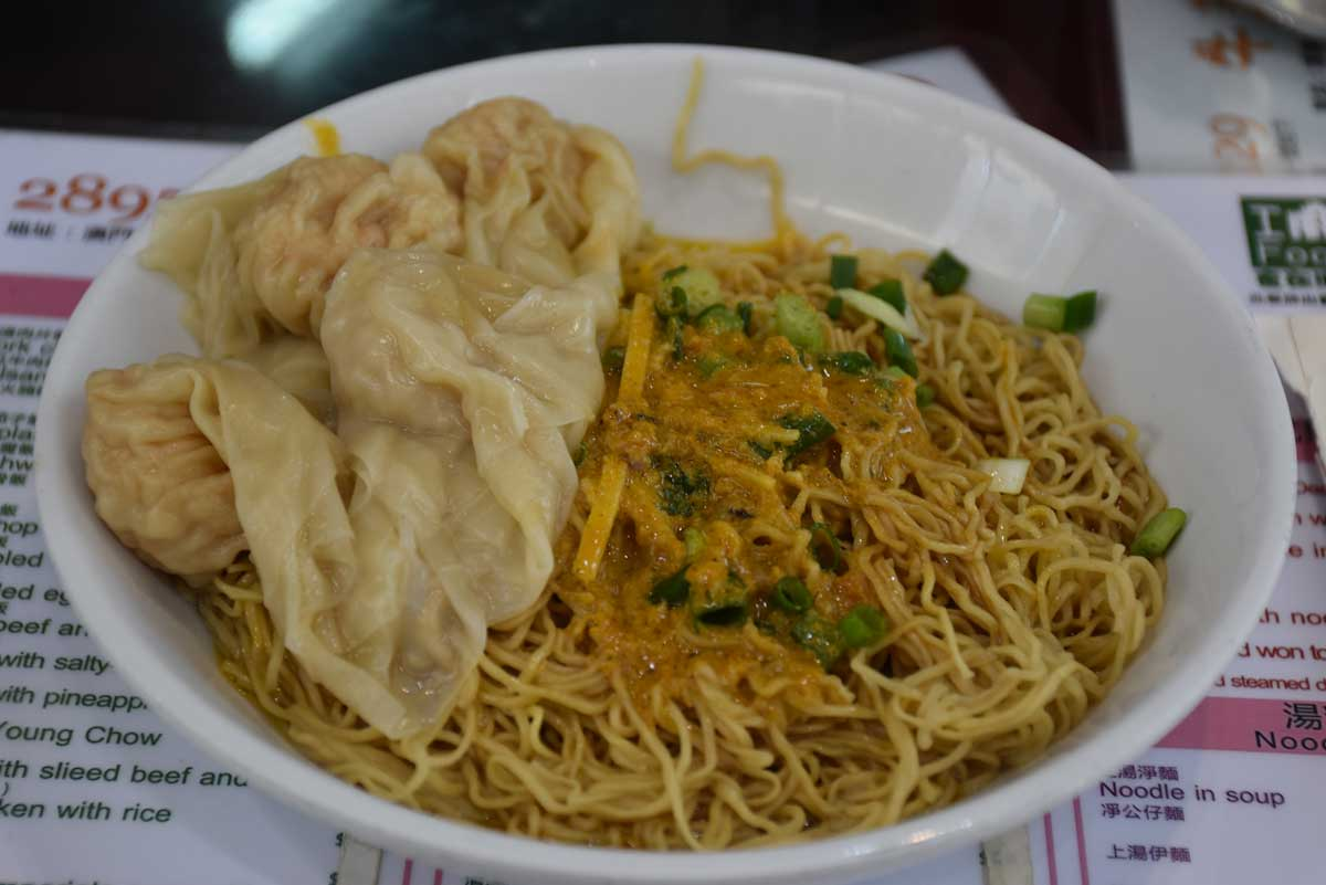 Niu Ji Macau Crab Paste and Wonton in Noodle Soy Sauce
