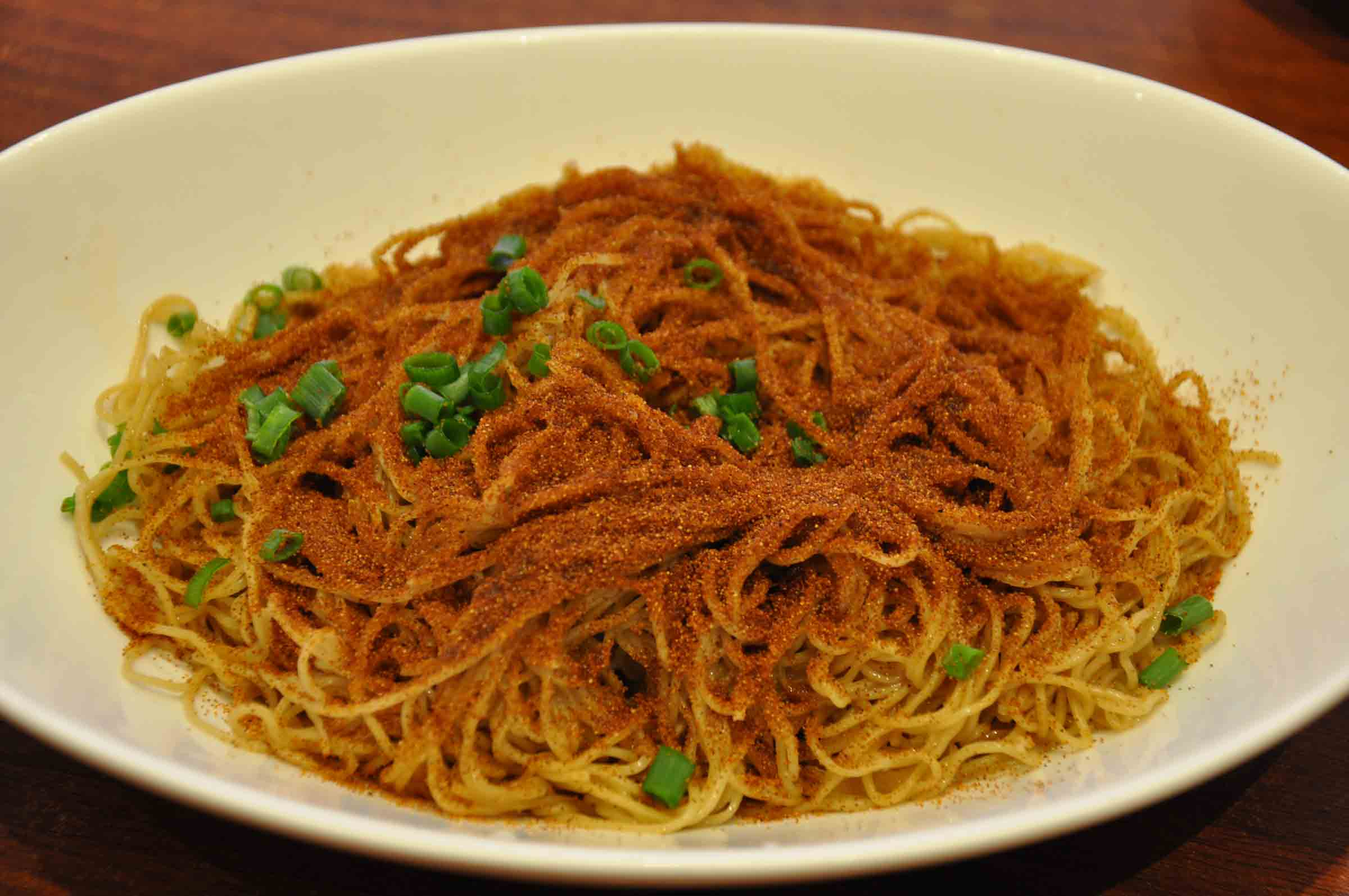 Top Macau Dishes: Shrimp Roe Noodles at Wong Kun Sio Kung