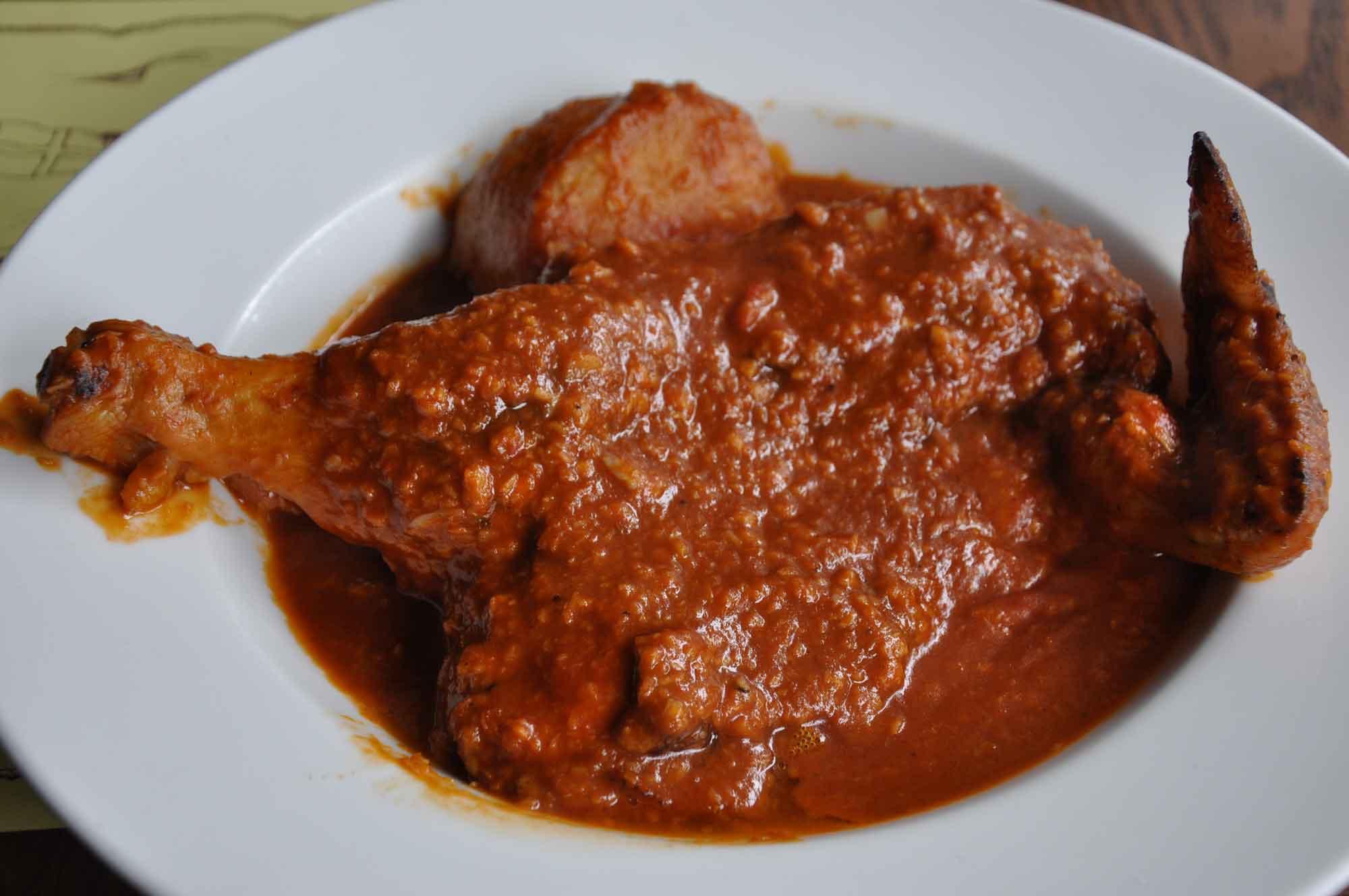 Best Macau Dishes: African Chicken at Henri's Galley
