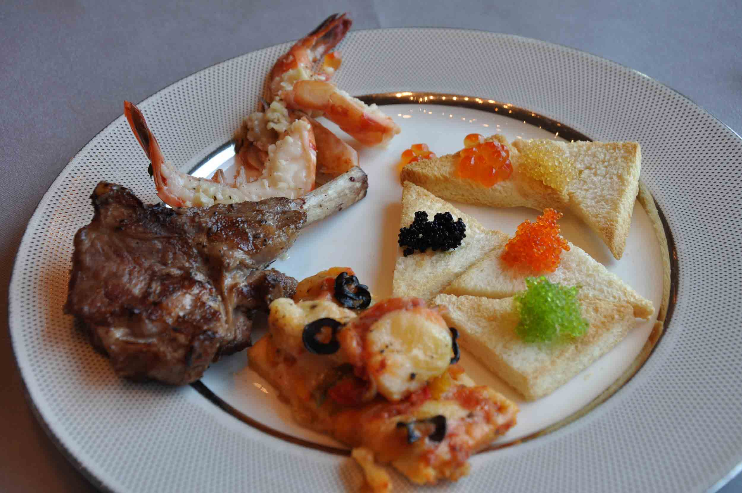 Belon Champagne Sunday Buffet assorted nibbles